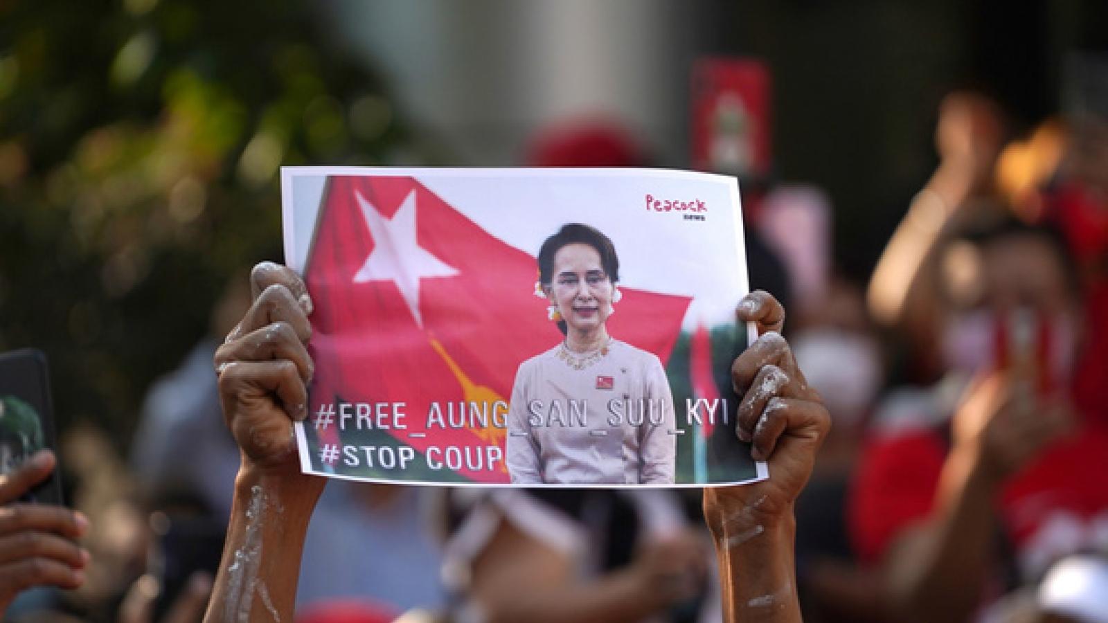 Thế giới theo dõi sát mọi diễn biến chính trị tại Myanmar