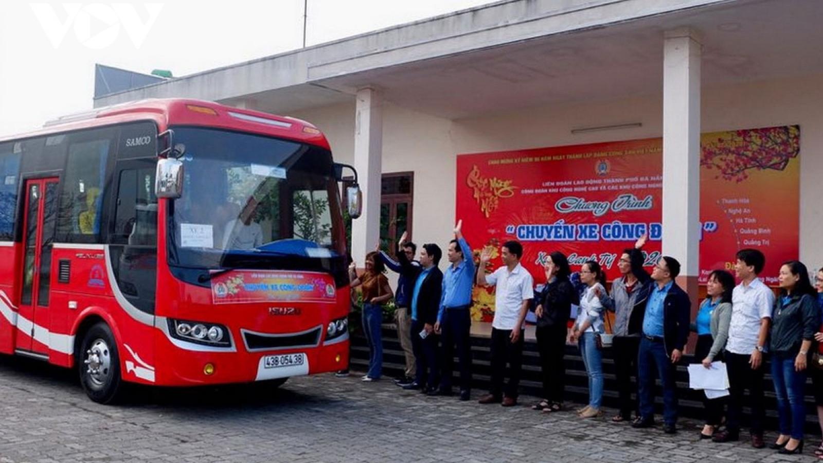 Đà Nẵng hỗtrợ 79 chuyến xe đưa công nhân về quê ăn Tết