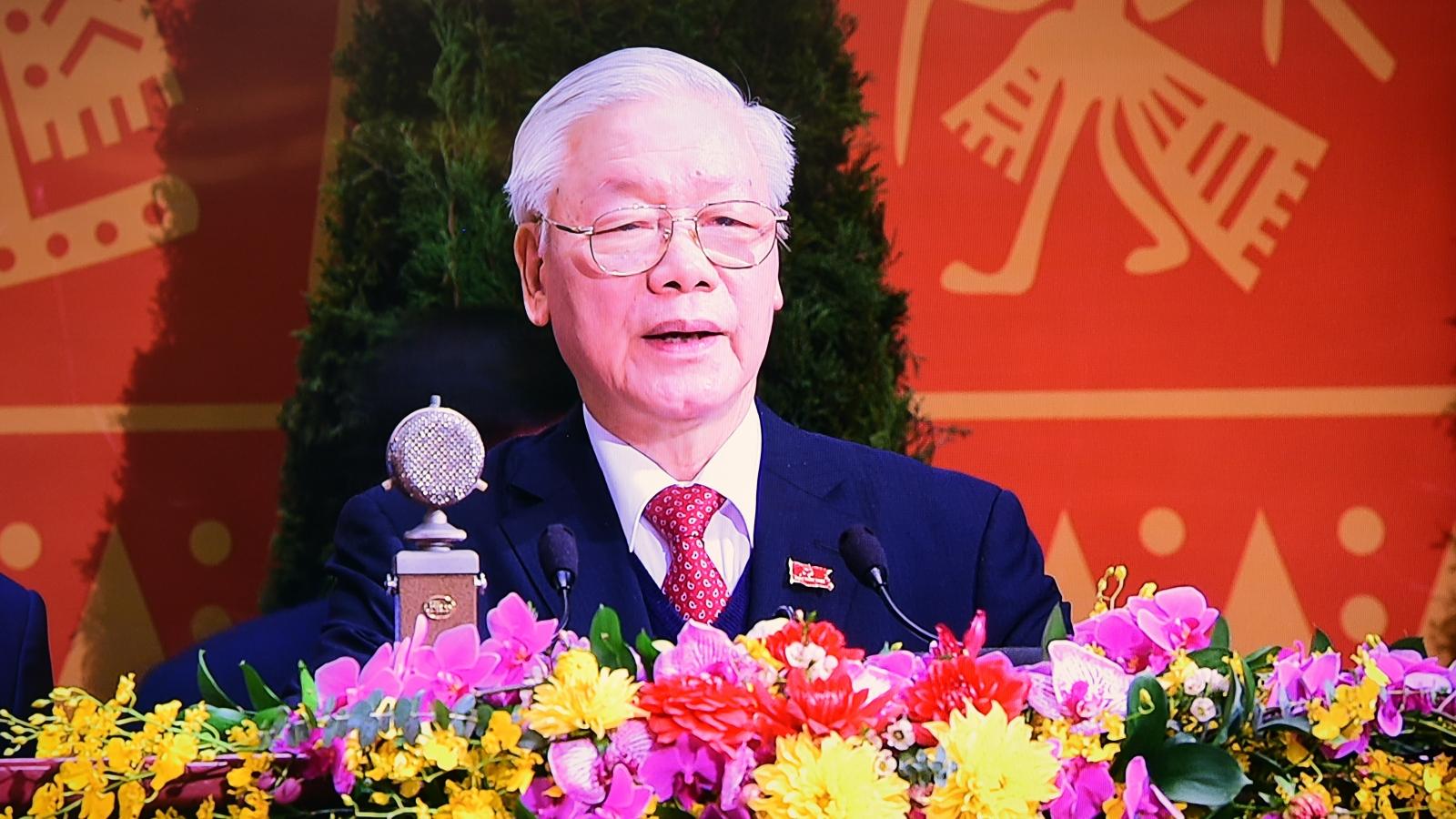 """Tổng Bí thư, Chủ tịch nước: """"Đại hội XIII của Đảng thành công rất tốt đẹp"""""""