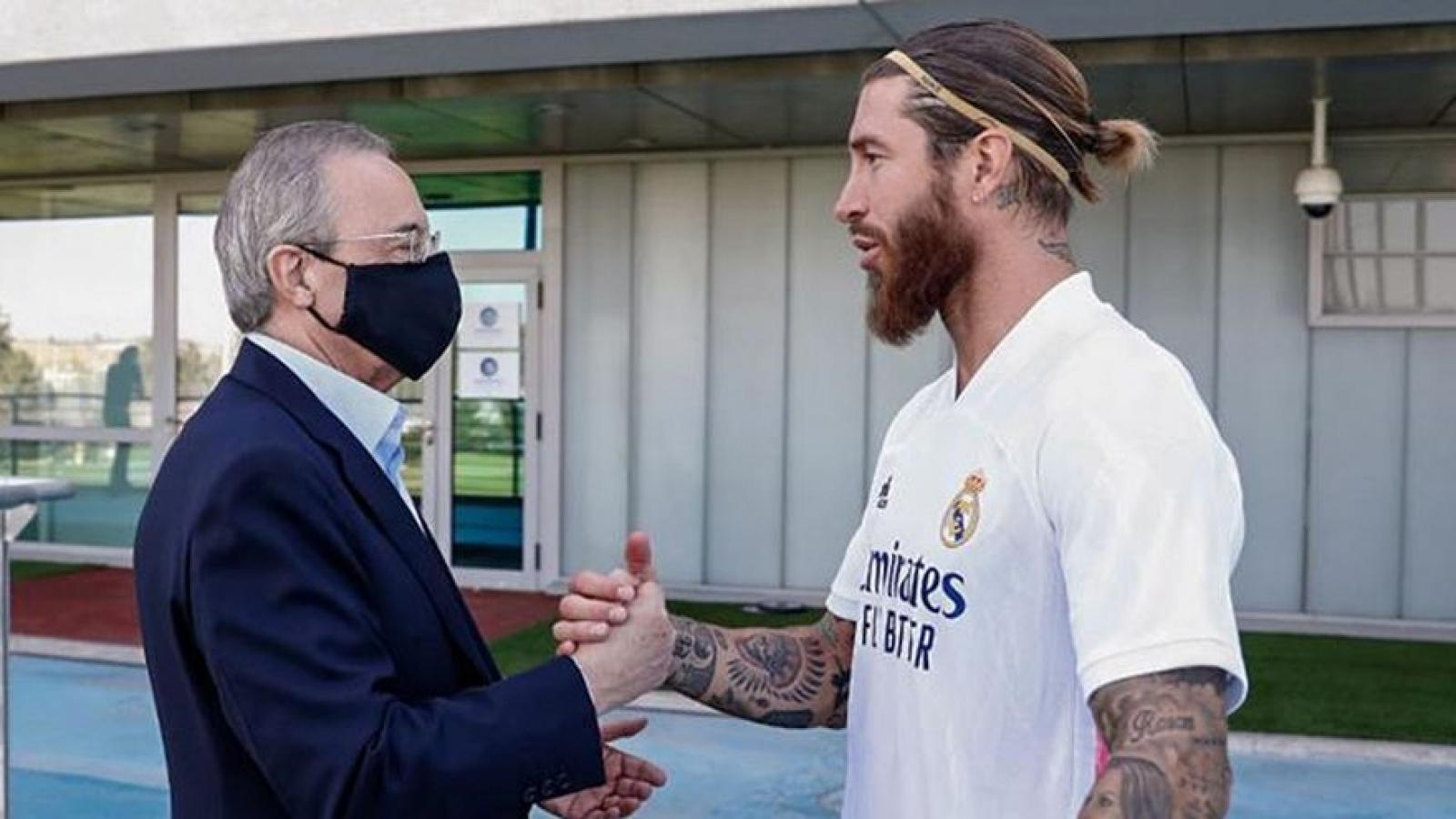 Sergio Ramos bất ngờ đồng ý giảm lương để ở lại Real Madrid