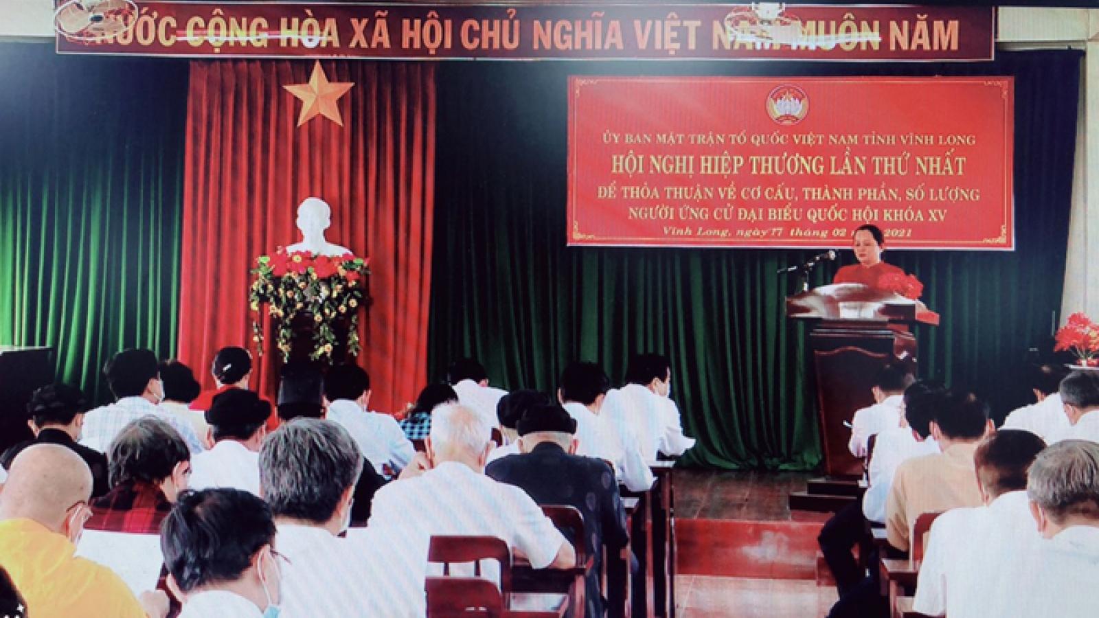 Vĩnh Long giới thiệu 12 ứng cử viên đại biểu Quốc hội khóa XV