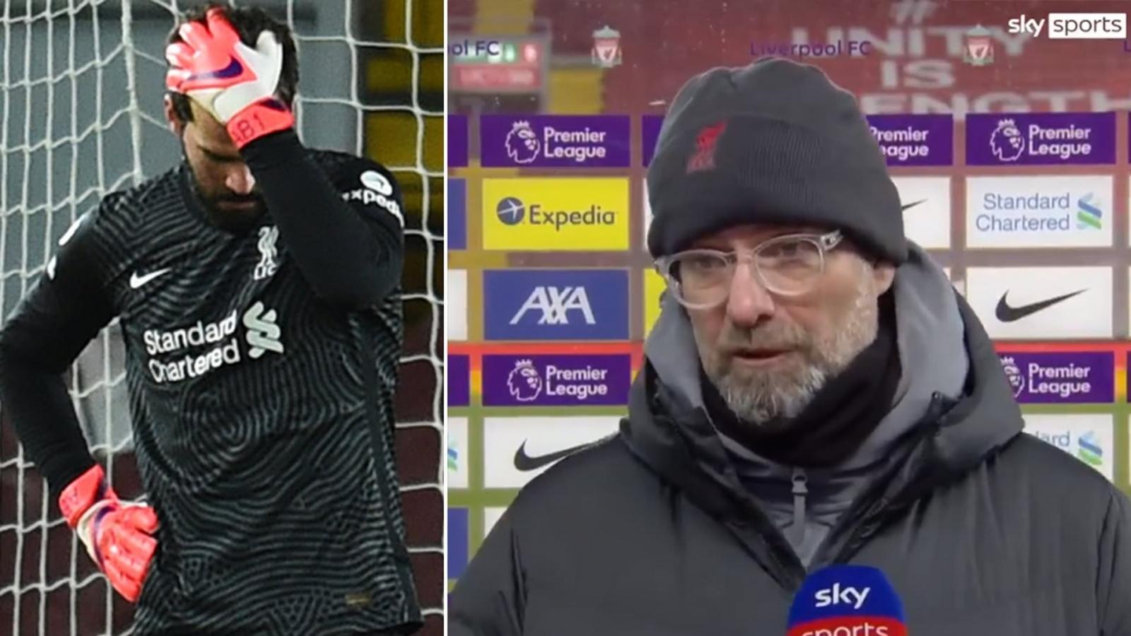 """Alisson """"báo hại"""" Liverpool, Jurgen Klopp nói điều bất ngờ"""