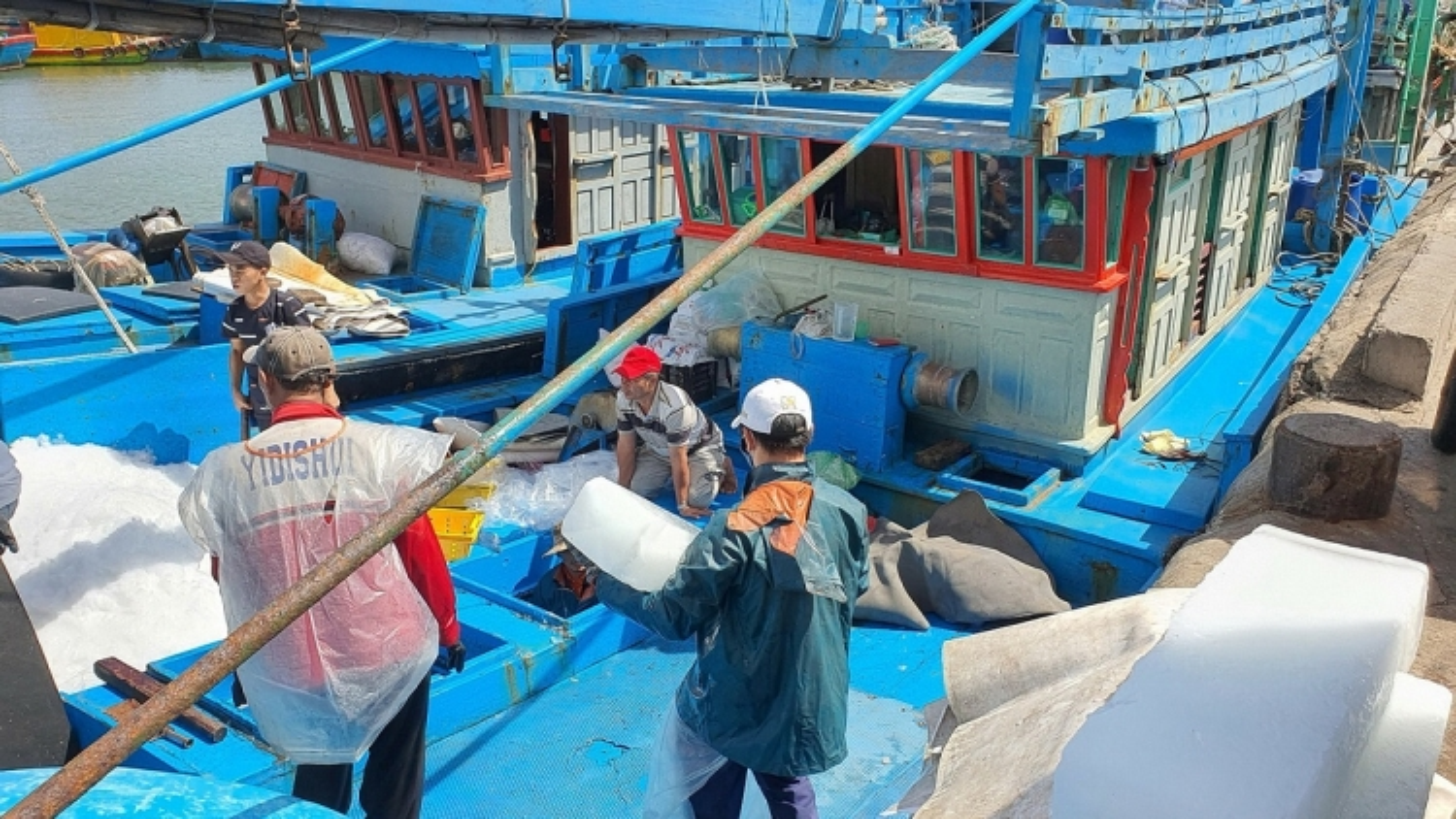 800 tàu cá của ngư dân Hoài Nhơn đồng loạt ra khơi ăn Tết trên biển