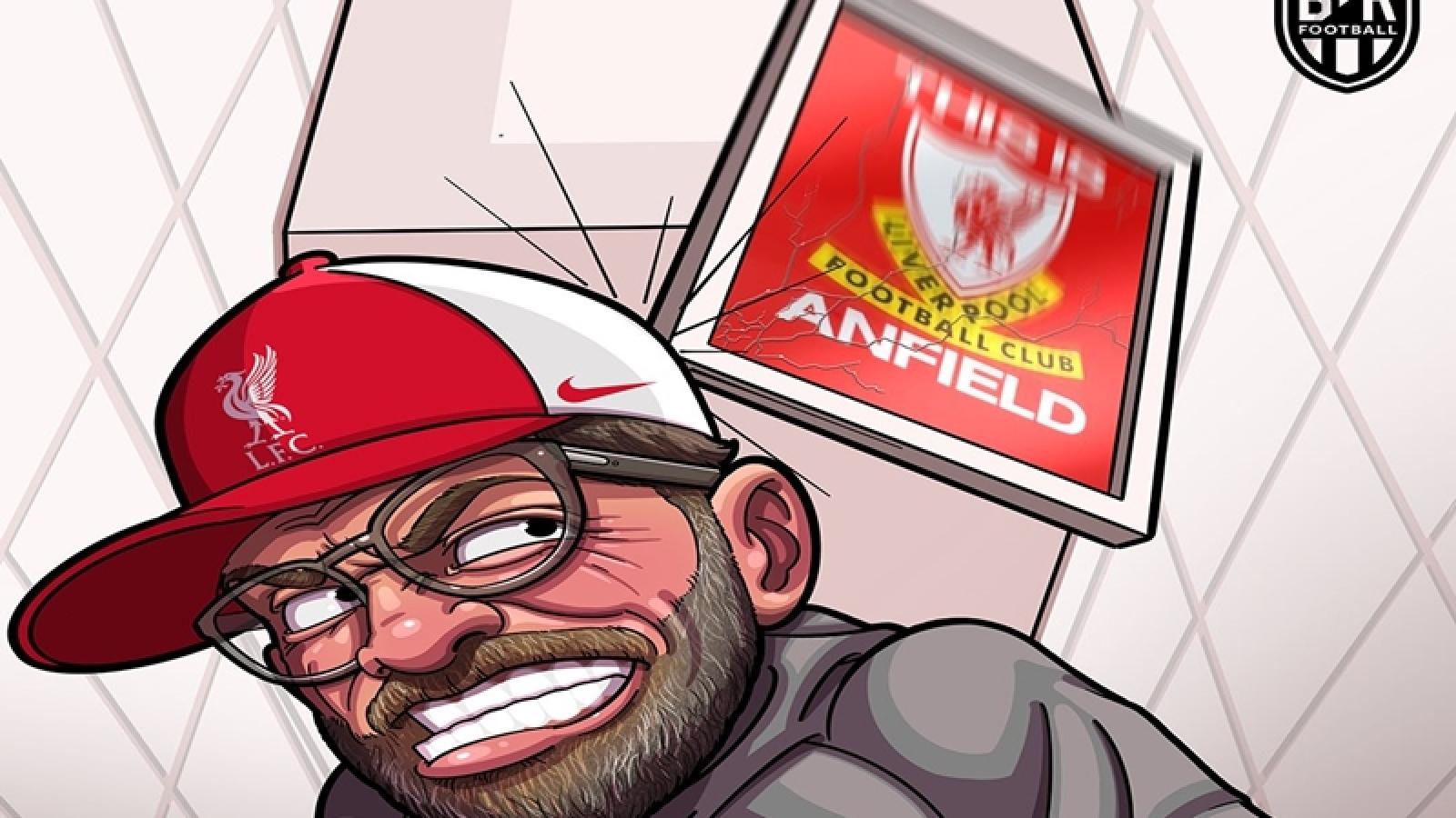"""Biếm họa 24h: """"Thánh địa"""" Anfield hóa thành """"tử địa"""" của Liverpool"""
