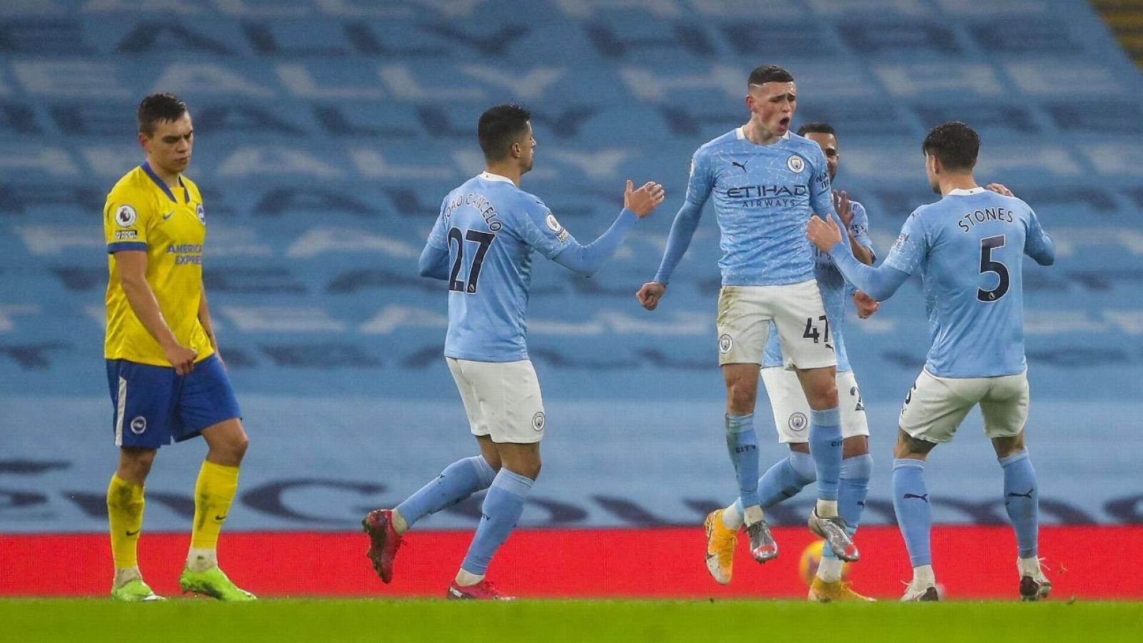 """Man City """"vô đối"""" châu Âu tháng 1/2021"""