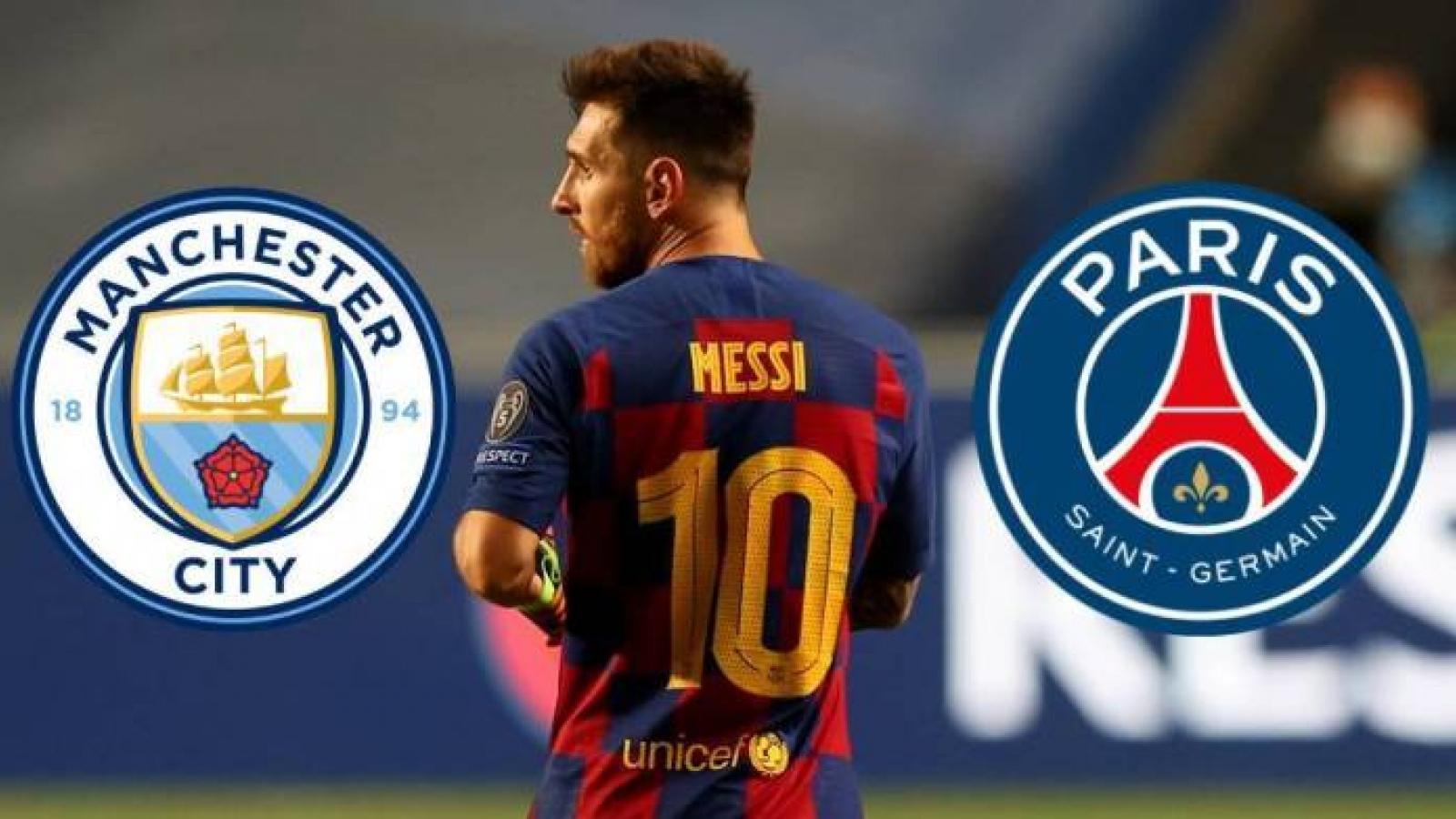 Man City quyết cạnh tranh với PSG thương vụ Messi