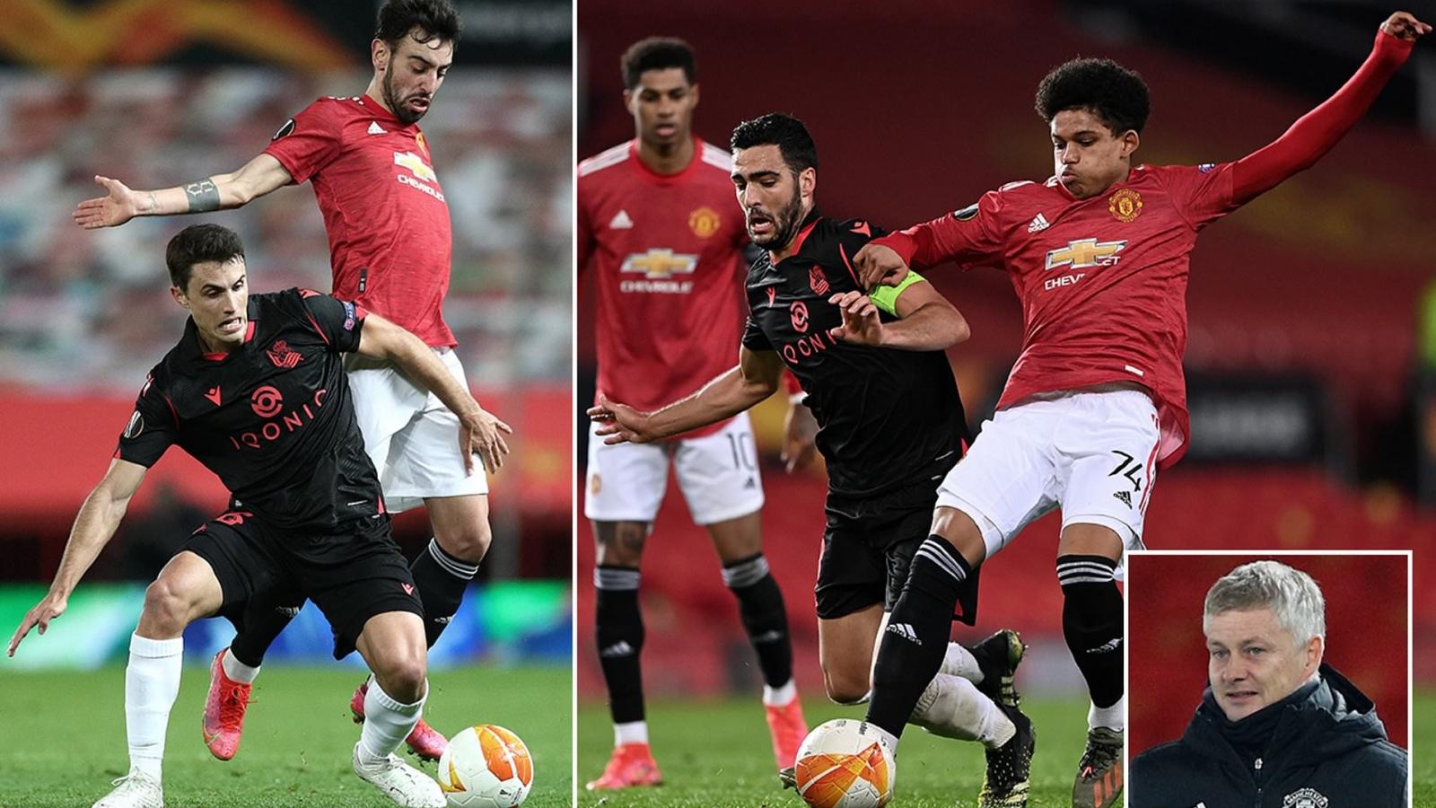 """MU 0-0 Sociedad: Ngày đặc biệt của """"thần đồng"""" Shola Shoretire"""
