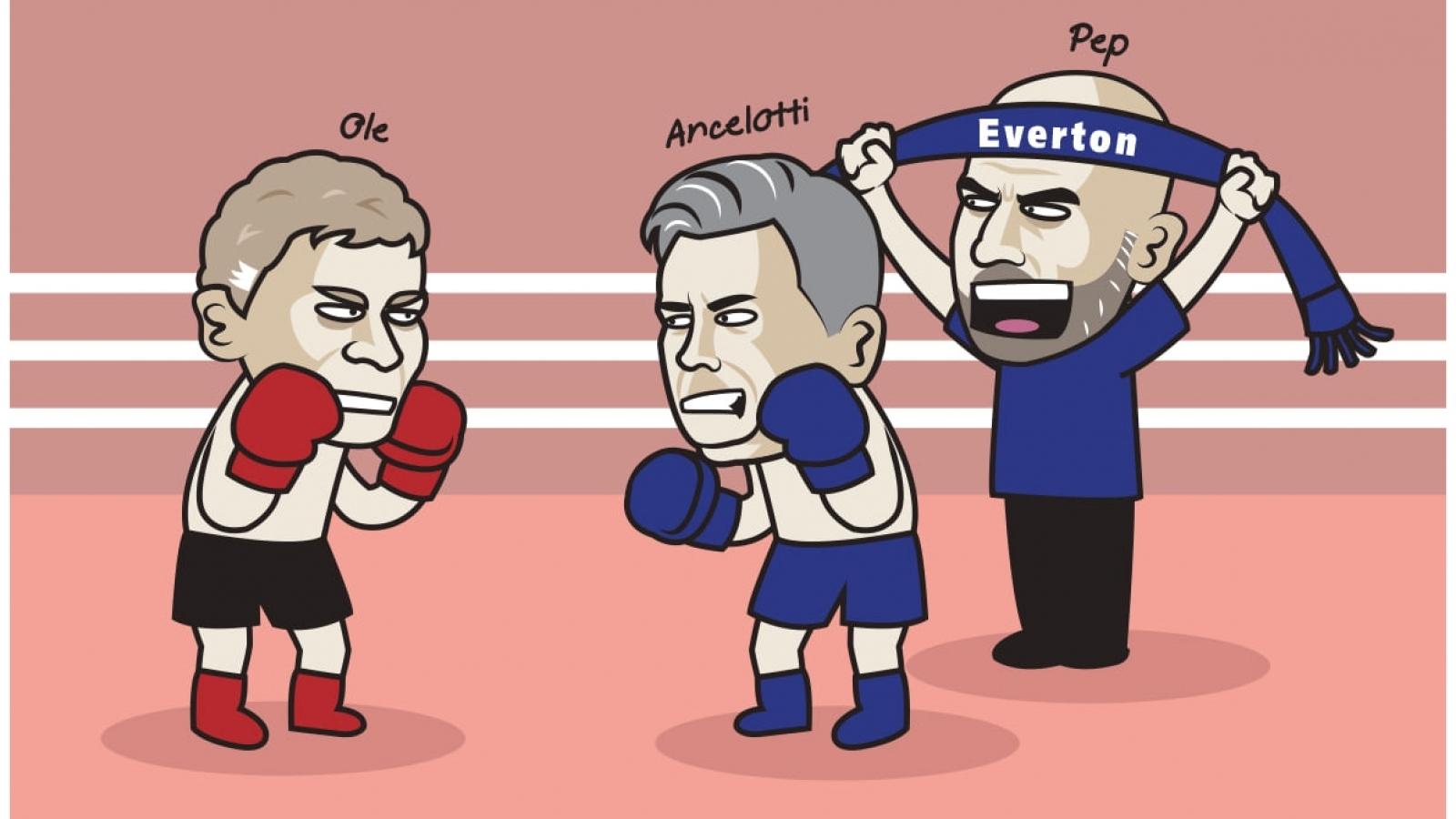 """Biếm họa 24h: Everton sẽ giúp Man City """"ngáng chân"""" MU?"""