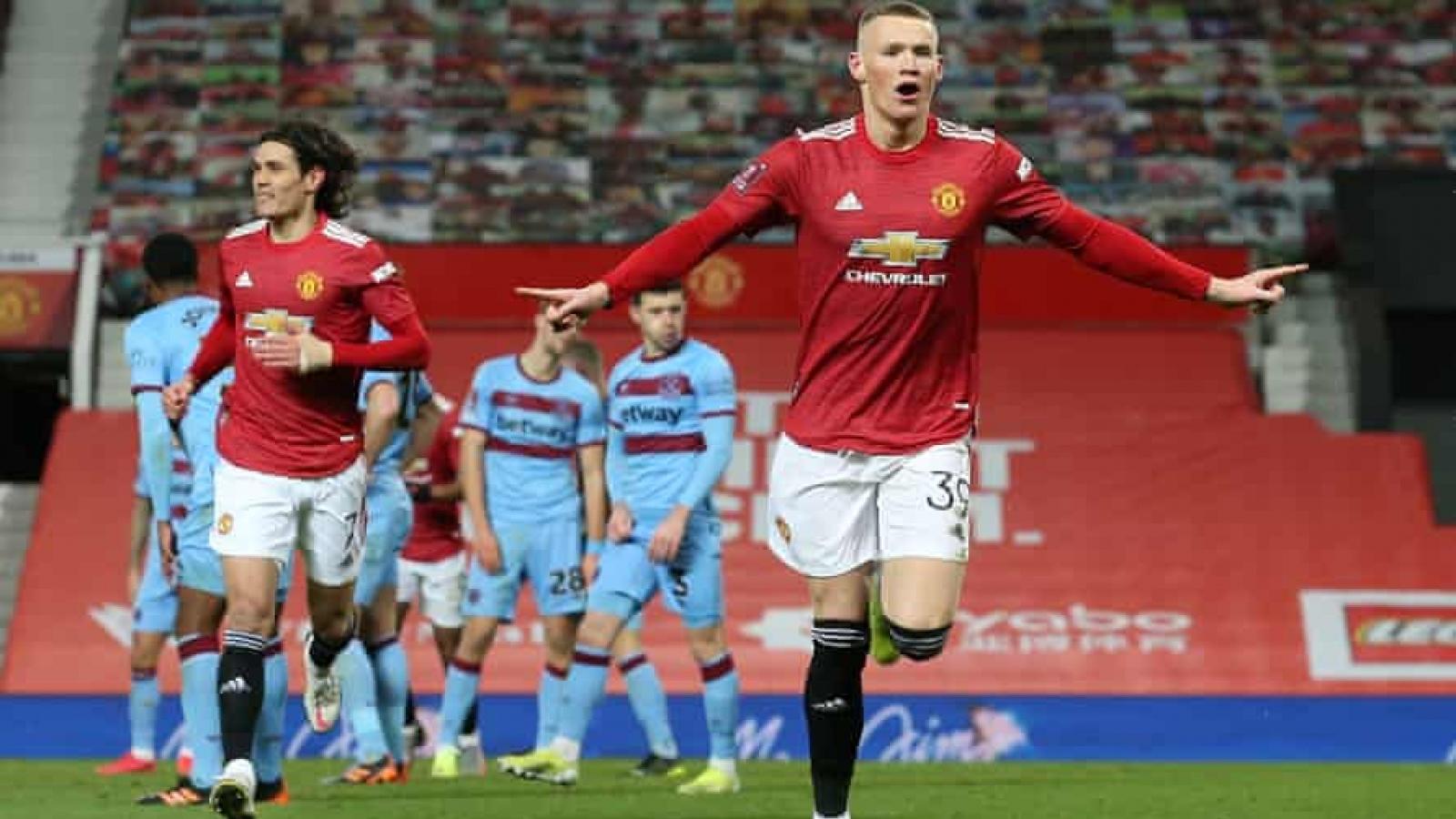 McTominay xé lưới West Ham trong hiệp phụ, MU vào tứ kết FA Cup