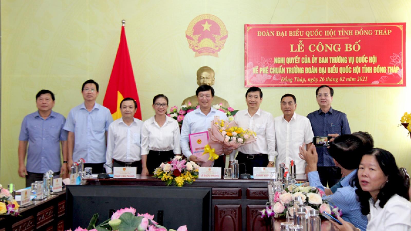 Bí thư Tỉnh ủy Đồng Tháp làm Trưởng Đoàn đại biểu Quốc hội tỉnh