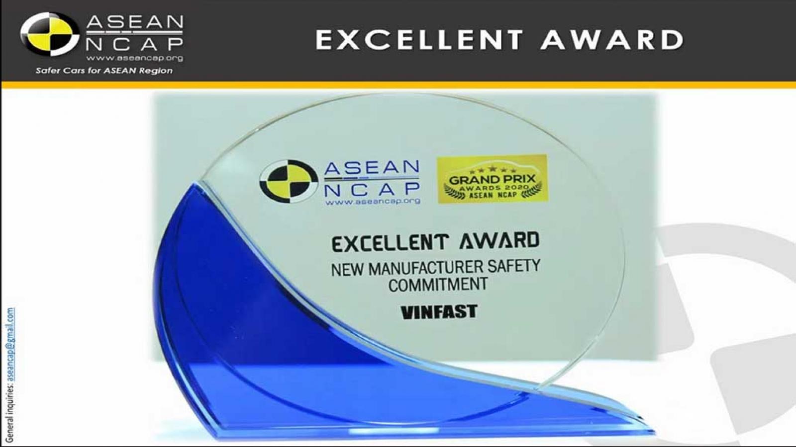 Giải thưởng VinFast mới đạt được từ ASEAN NCAP có ý nghĩa thế nào?