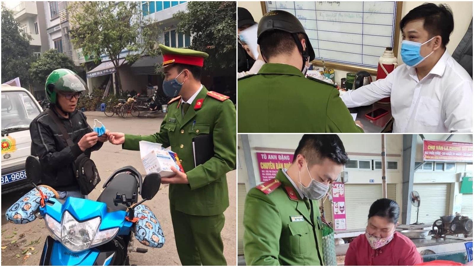 Công an Hà Nội bắt đầu xử phạt các trường hợp không đeo khẩu trang