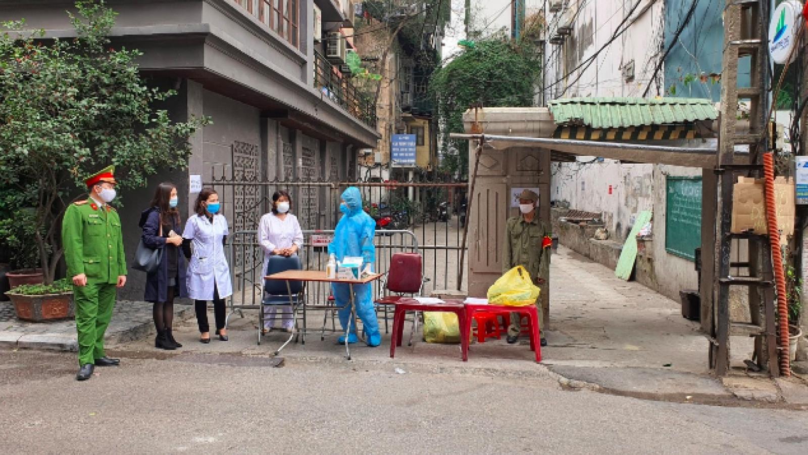 Phong tỏa khu vực bệnh nhân Covid-19 mới tại quận Ba Đình