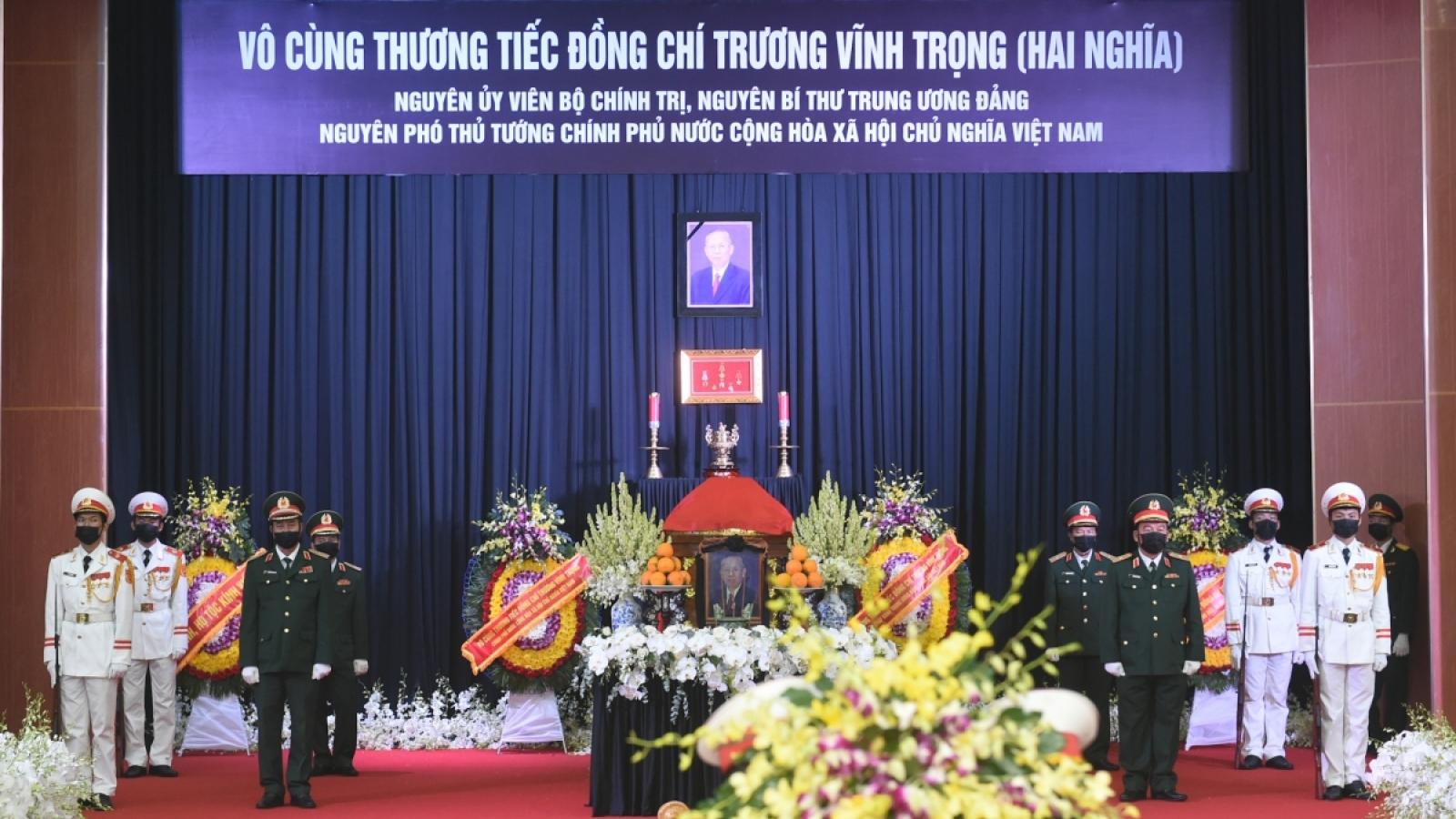 Lời cảm ơn của Ban Lễ tang và gia đình nguyên Phó Thủ tướng Trương Vĩnh Trọng