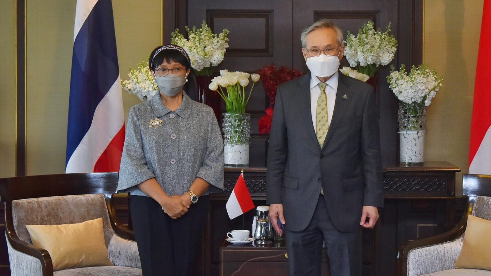 Ngoại trưởng Myanmar và Indonesia cùng thăm Thái Lan