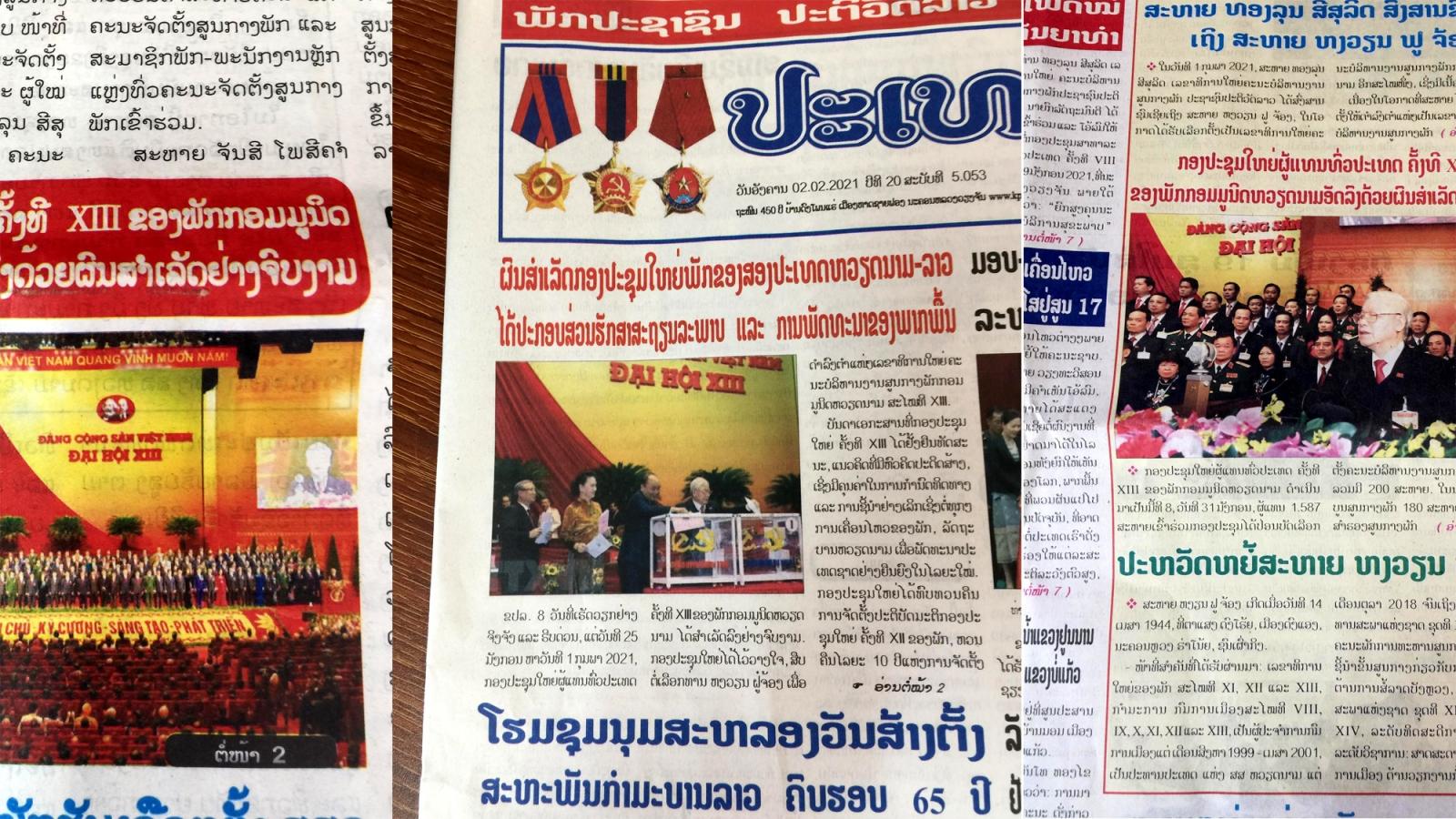 Truyền thông Lào:Đại hội XIII góp phần quan trọng vào ổn định, phát triển khu vực