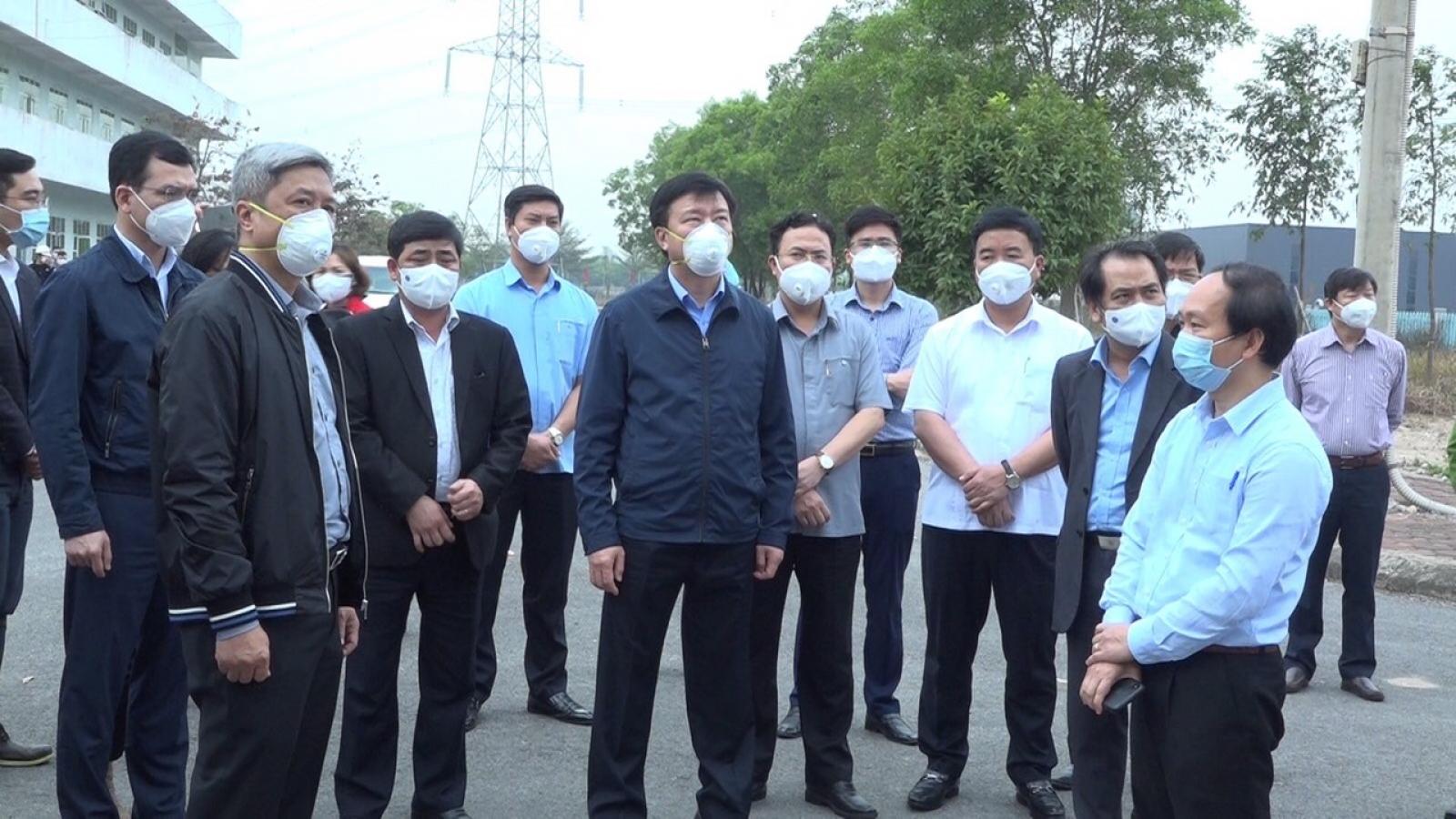 Thứ trưởng Bộ Y tế: Cần hết sức quan tâm tới ổ dịch tại Cẩm Giàng và TP Hải Dương