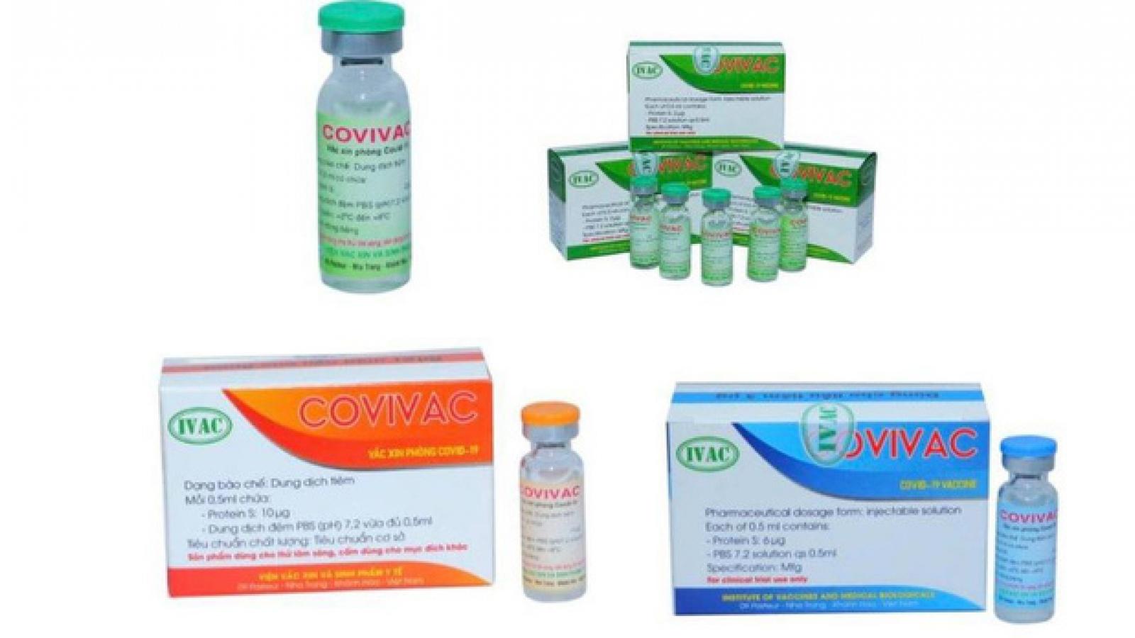 Dự kiến vaccine ngừa COVID-19 COVIVAC có giá không quá 60.000 đồng/liều