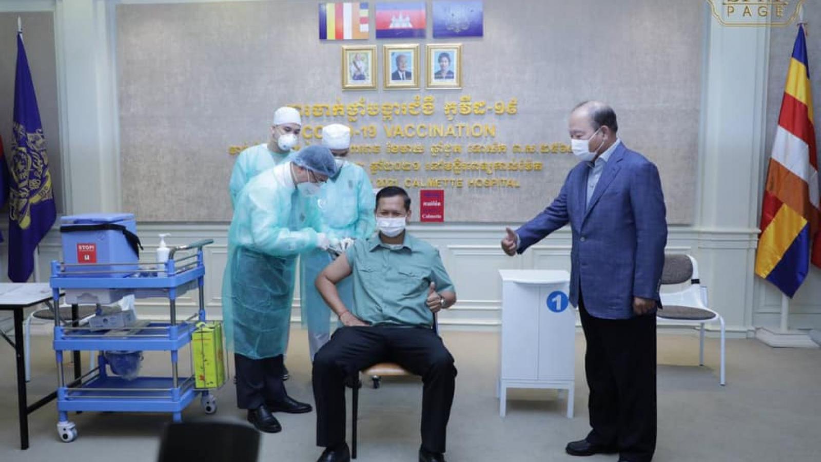 Campuchia chính thức triển khaitiêm vaccine ngừa Covid-19trên diện rộng