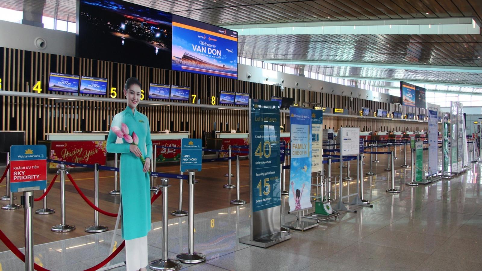 Quảng Ninh sẵn sàng các điều kiện để sân bay Vân Đồn hoạt động trở lại