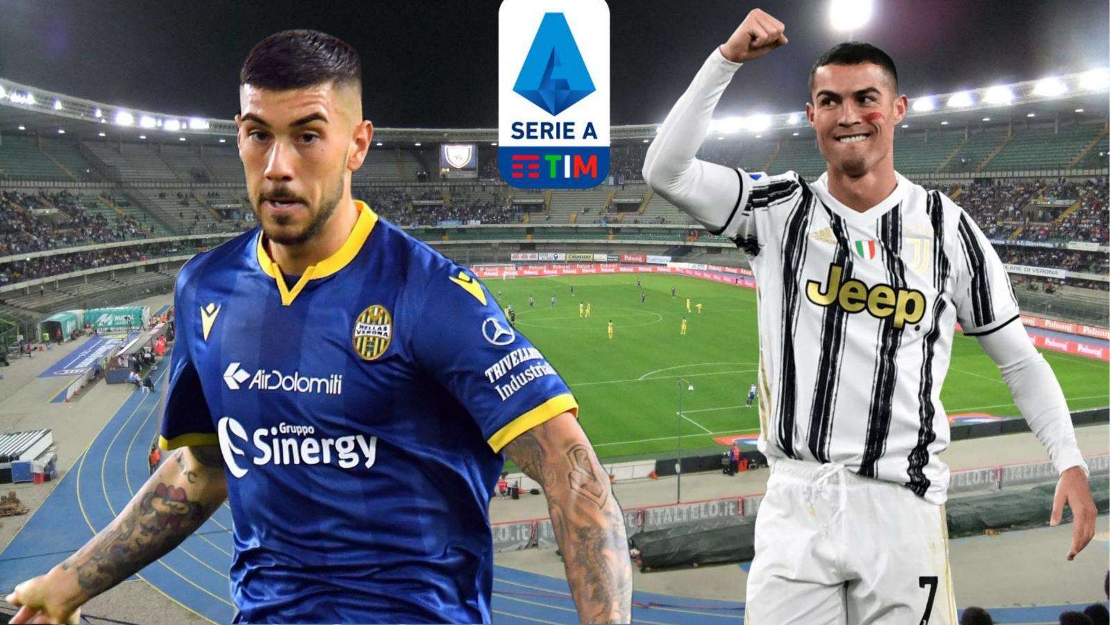 Dự đoán kết quả, đội hình xuất phát trận Verona - Juventus