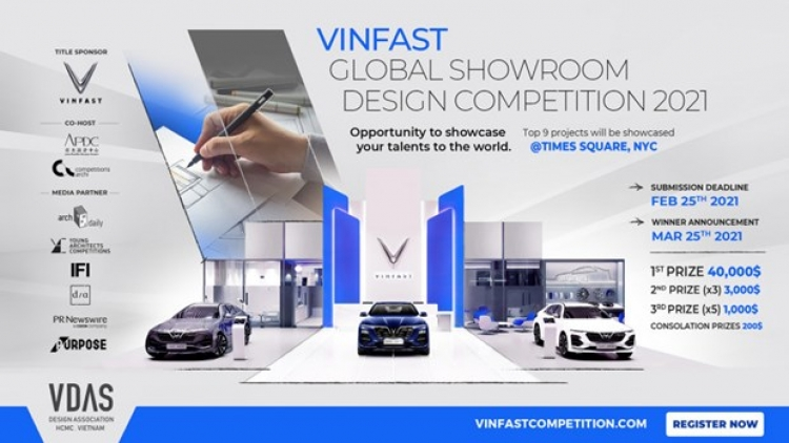 Vinfast seeks excellent designs for its global showrooms