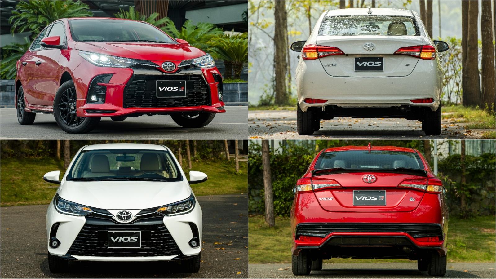 Toyota Vios 2021 điều chỉnh thiết kế, thêm phiên bản thể thao