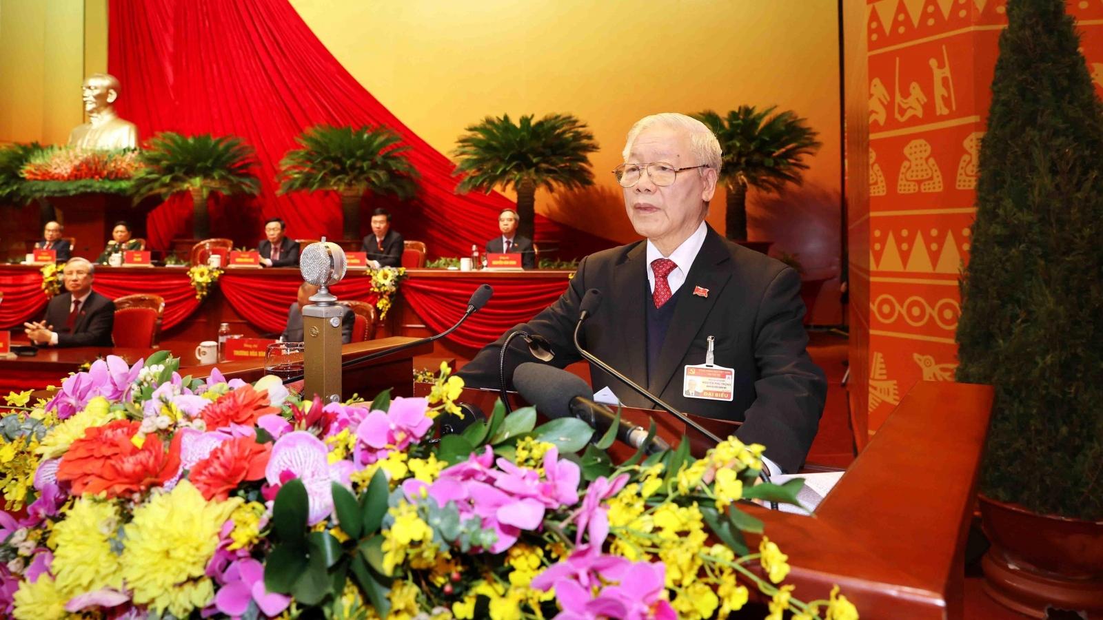 Toàn văn phát biểu của Tổng Bí thư, Chủ tịch nước cảm ơn tại Đại hội Đảng lần thứ XIII