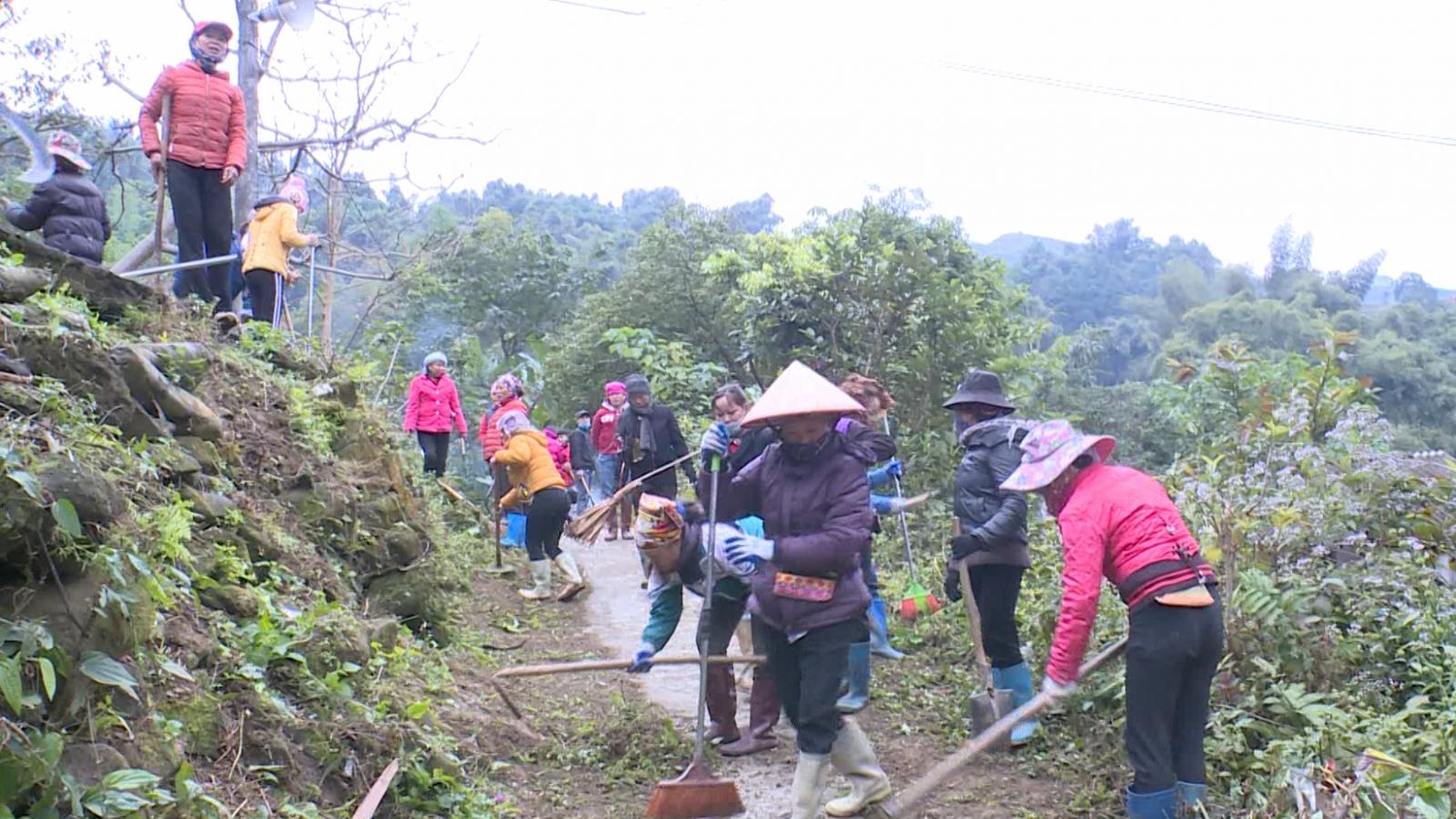 Hơn 27.000 người huyện Bảo Thắng tham gia vệ sinh môi trường