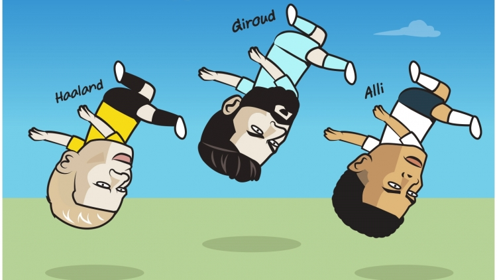 """Biếm họa 24h: Haaland, Giroud, Alli thi nhau trổ tài """"ngả bàn đèn"""""""