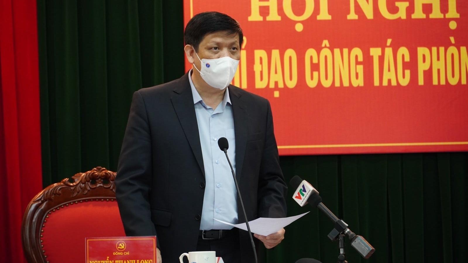 Bộ trưởng Y tế làm việc với tỉnh Hải Dương về công tác chống dịch Covid-19