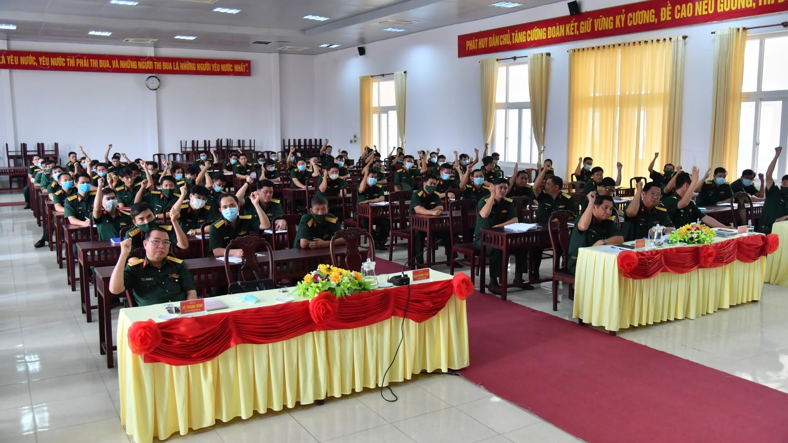 Bộ Chỉ huy quân sựtỉnhKiên Giang giới thiệu 2 cán bộ ứng cử đại biểu HĐND
