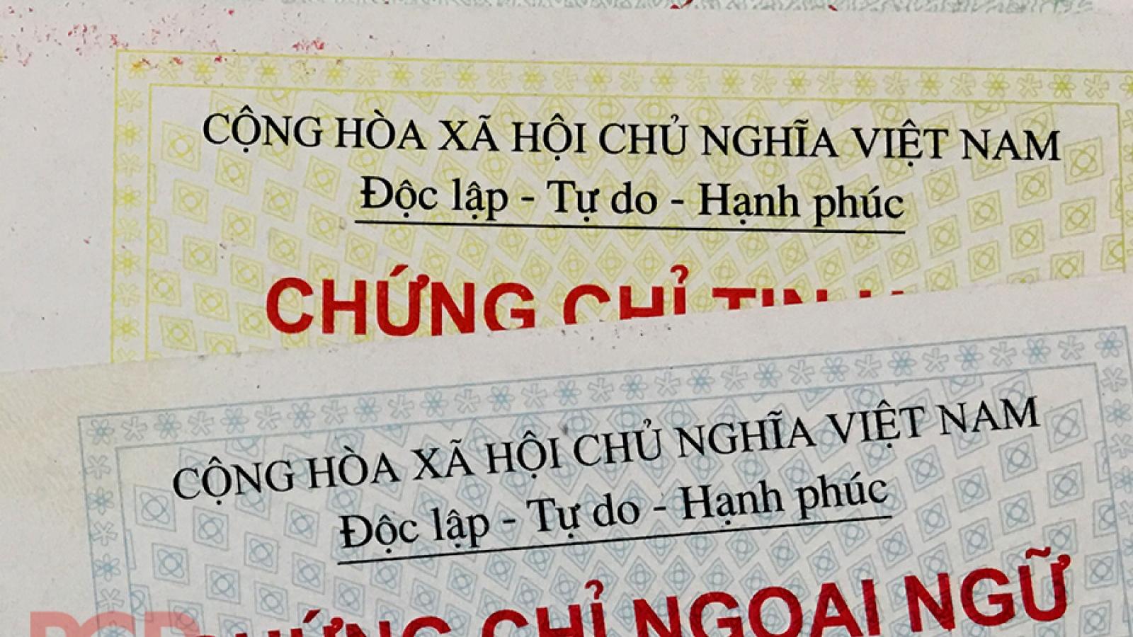 Cấp chứng chỉ năng lực ngoại ngữ trái phép bị phạt đến 100 triệu đồng