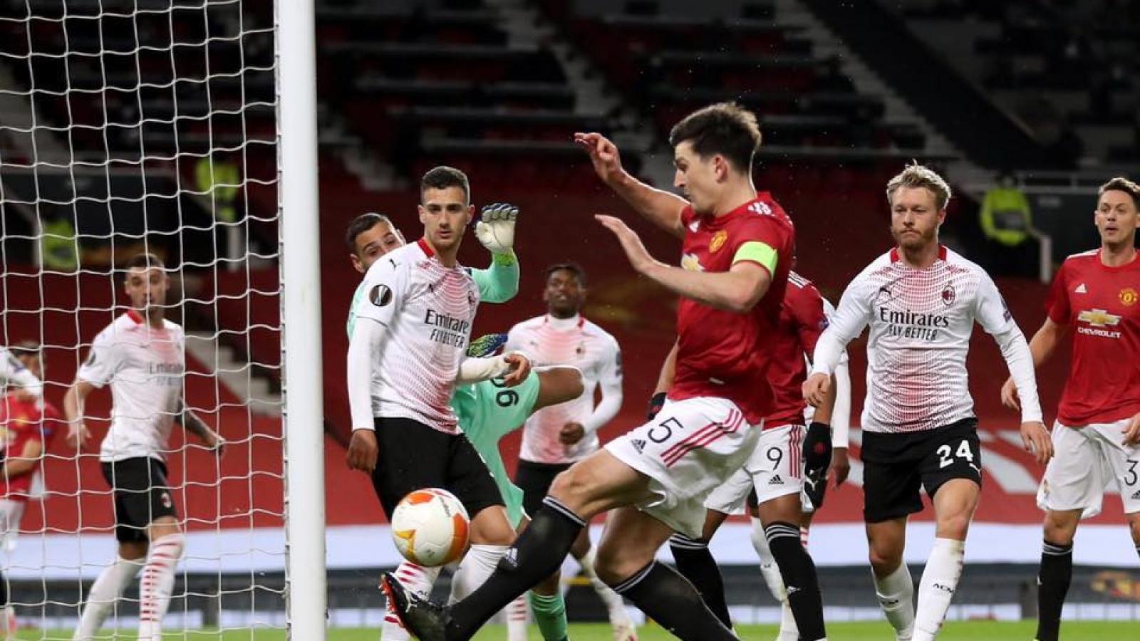 Thủng lưới phút bù giờ, MU đánh rơi chiến thắng trước AC Milan