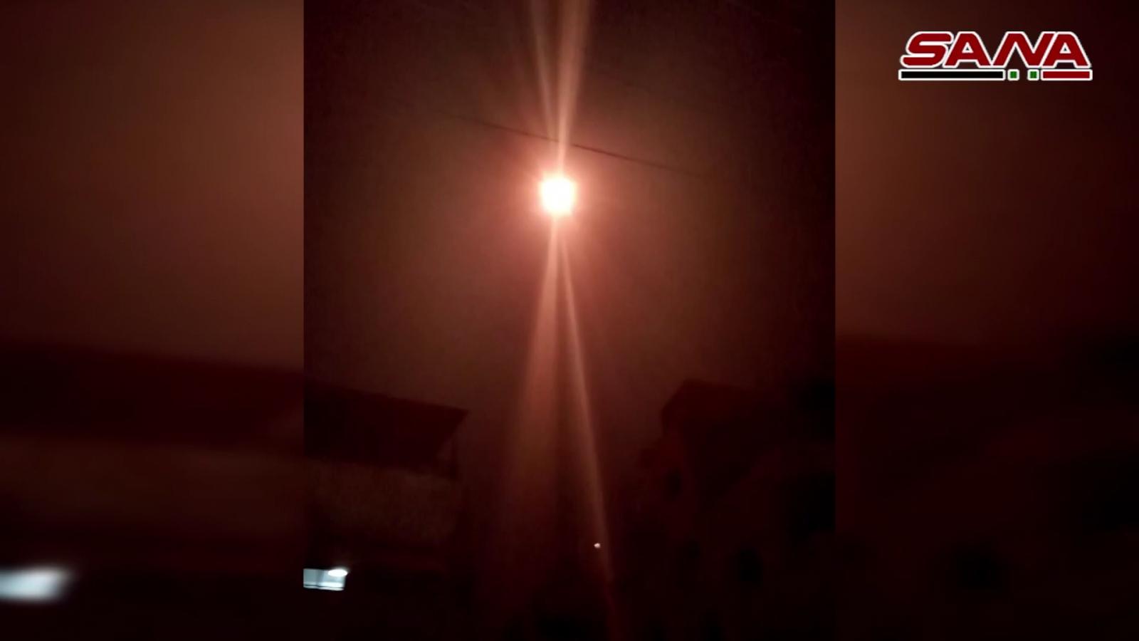 Phòng không Syria đánh chặn loạt tên lửa của Israel ở thủ đô Damascus