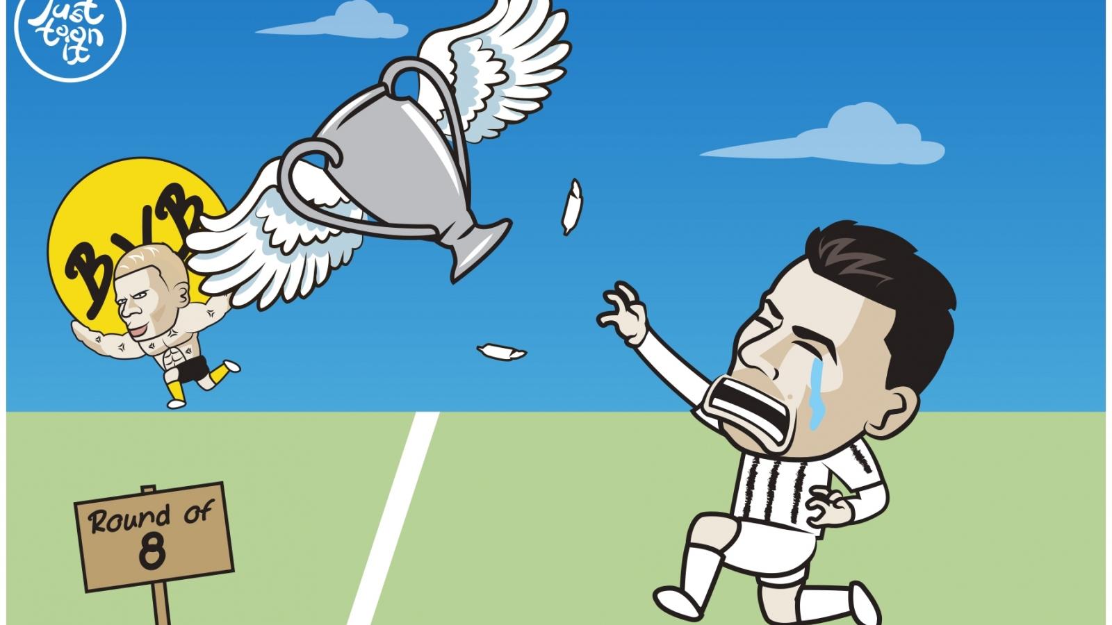 """Biếm họa 24h: Cristiano Ronaldo nhận cái kết """"đắng lòng"""" ở Champions League"""