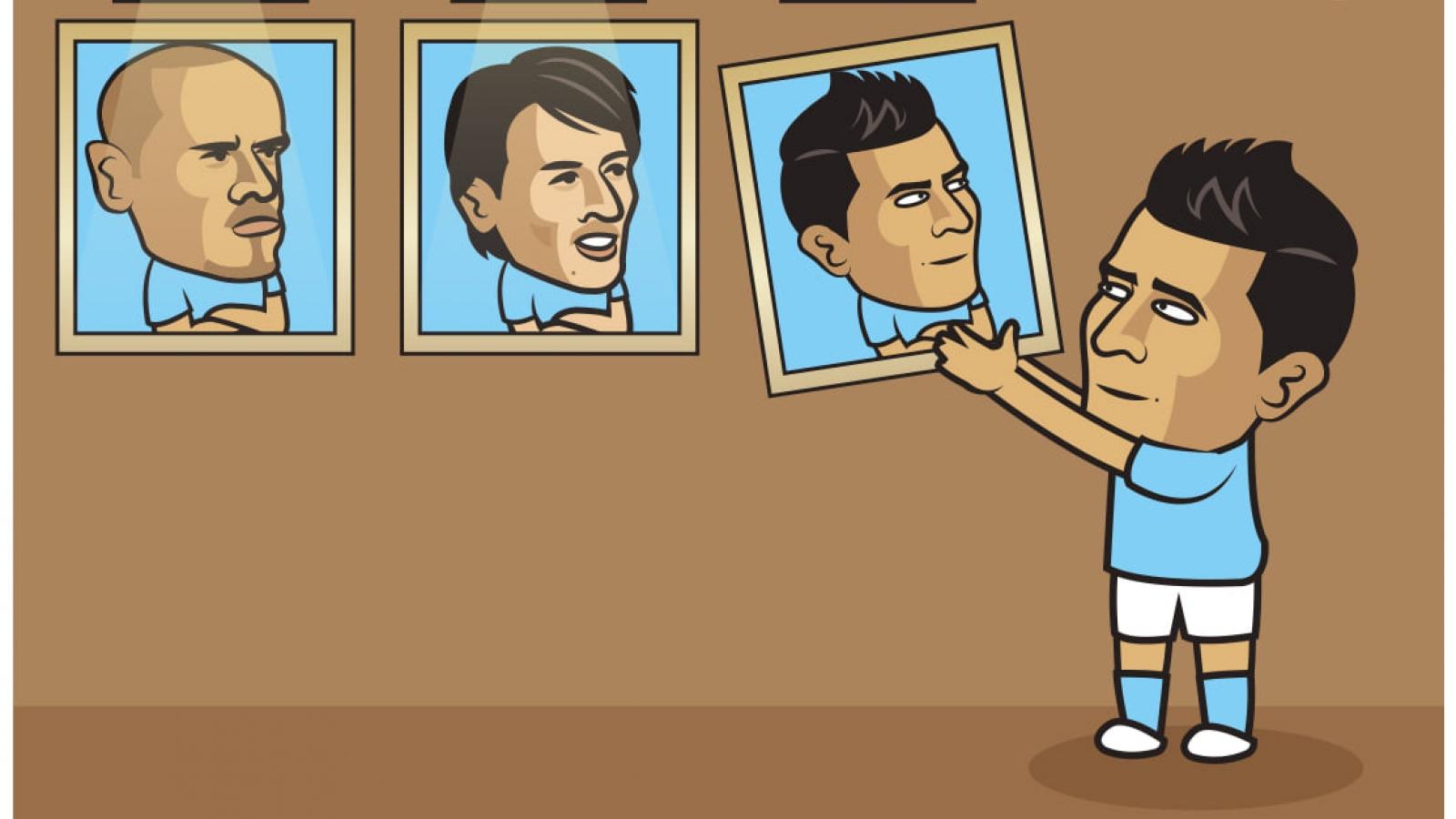"""Biếm họa 24h: Man City """"mỏi mắt"""" tìm người thay thế Sergio Aguero"""