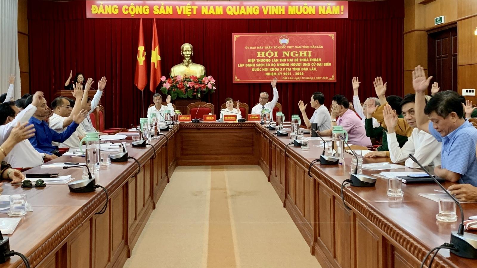 Đắk Lắk lập danh sách sơ bộ 12 người ứng cử Đại biểu Quốc hộikhoá XV
