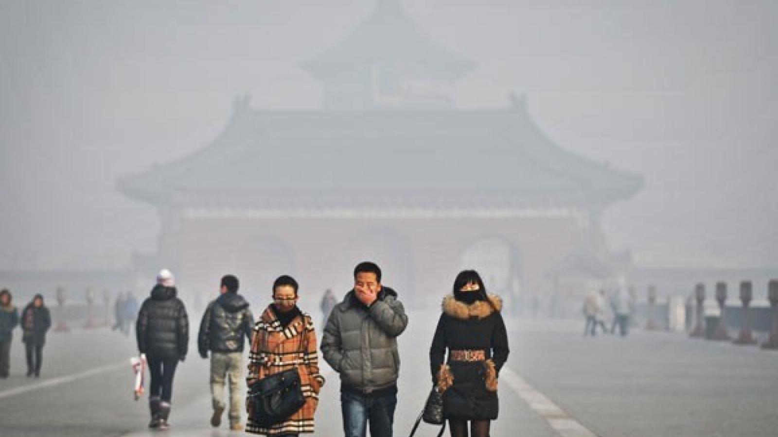 Bắc Kinhyêu cầu các trường học dừng hoạt động ngoài trời do không khíô nhiễm