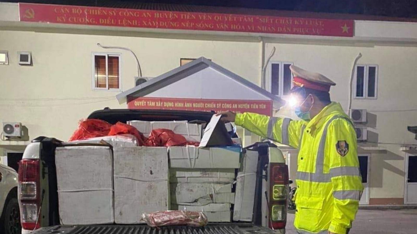 Quảng Ninh liên tiếp bắt giữ nhiều vụ vận chuyển thực phẩmkhông rõ nguồn gốc