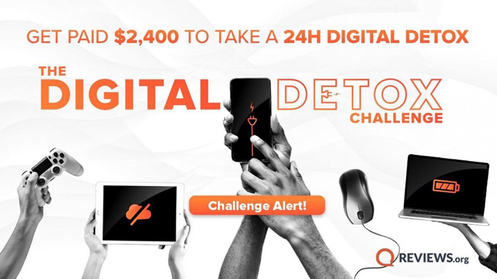 Thử thách kiếm 2.400 USD nếu tránh xa màn hình trong 24 giờ