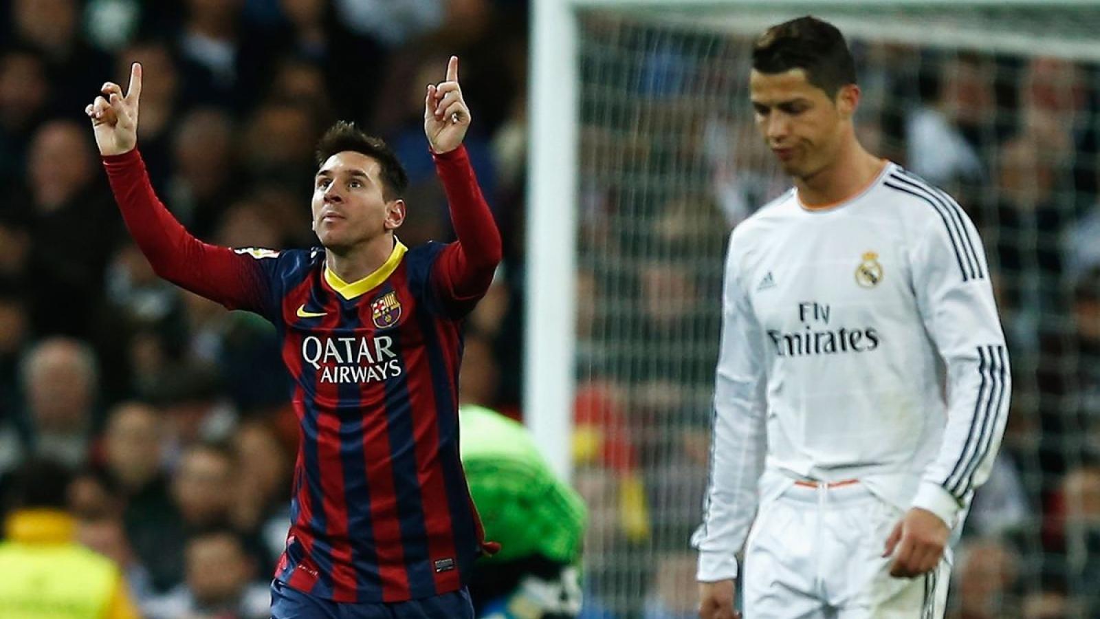 """Ngày này năm xưa: Messi làm """"lu mờ"""" Ronaldo trong trận Siêu kinh điển"""
