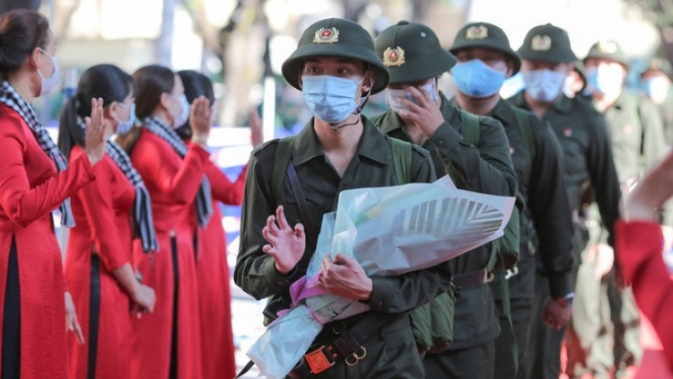 Youths in HCM City depart for military service