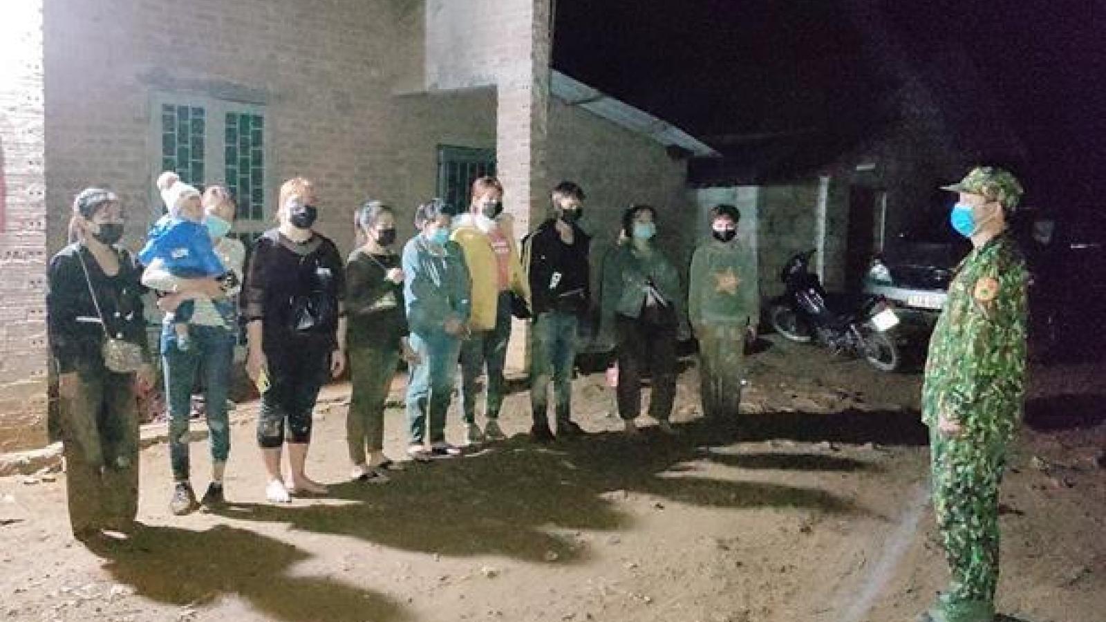 Phát hiện và ngăn chặn 10 công dân nhập cảnh trái phép trong đêm