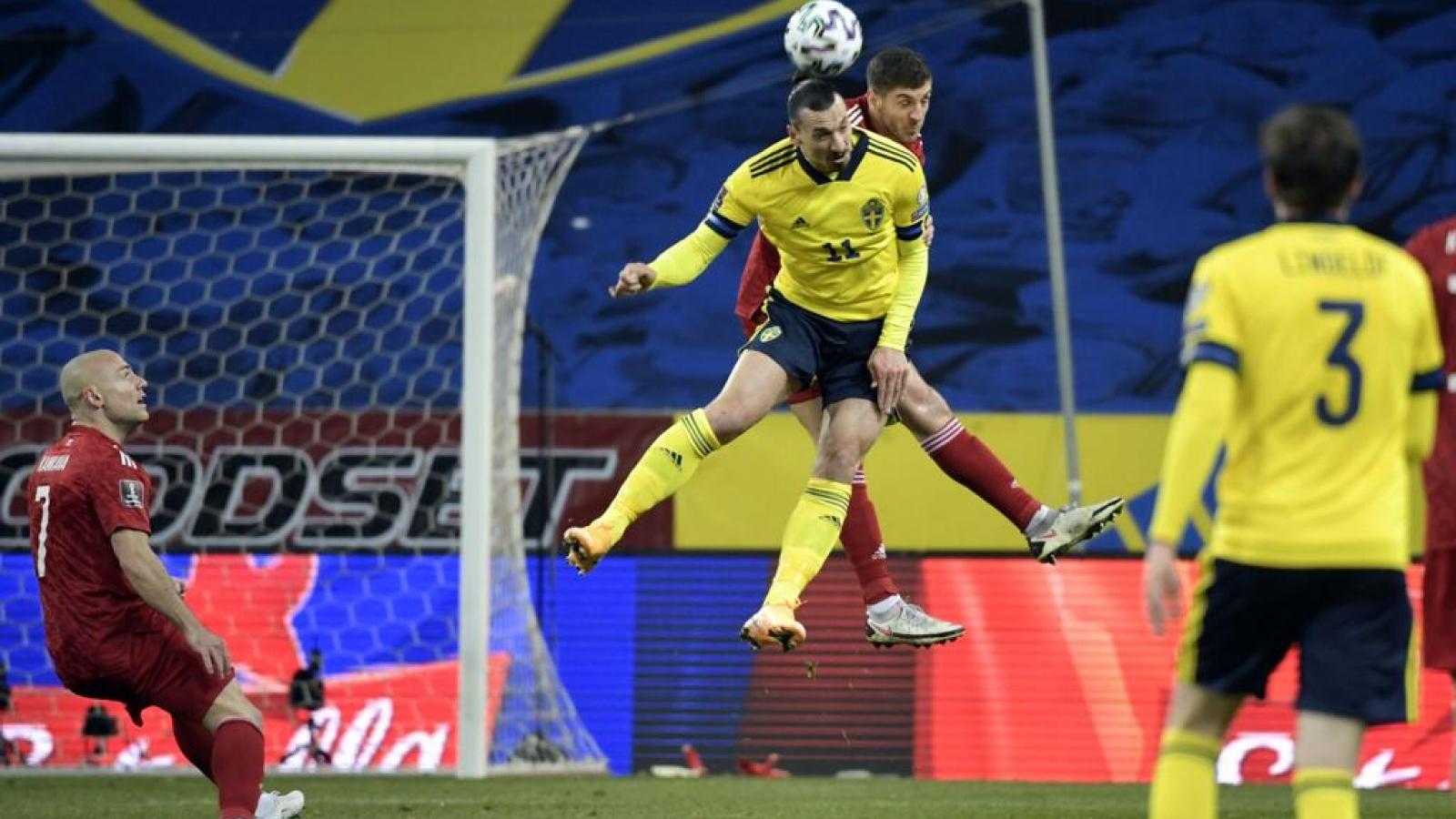 Ibrahimovic tỏa sáng ngay ngày trở lại ĐT Thụy Điển