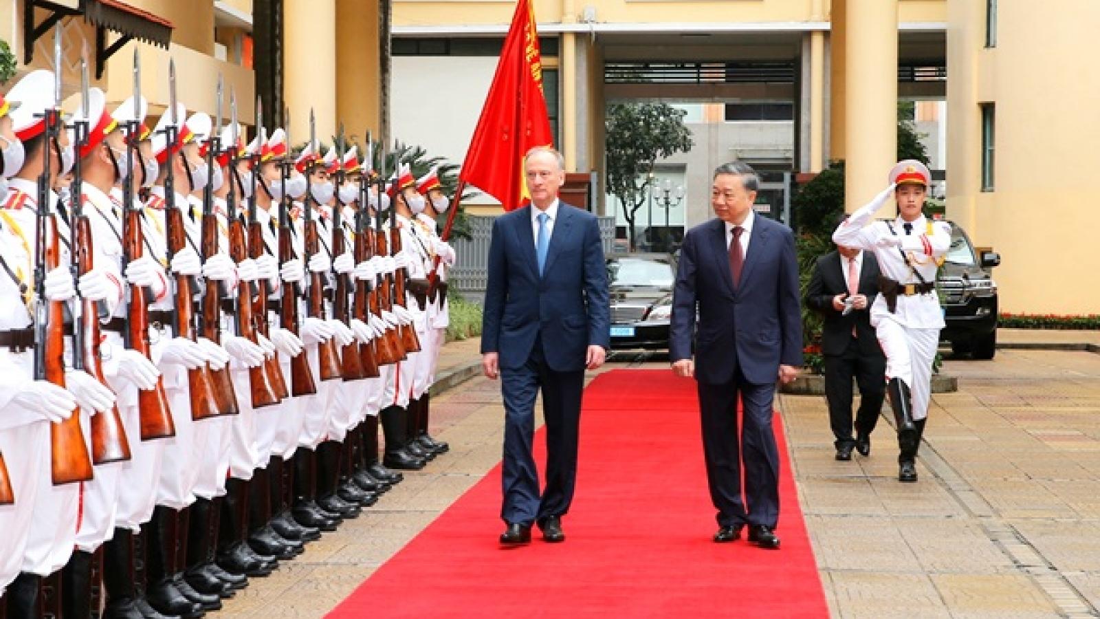 Hội đàm cấp cao giữa Bộ Công an Việt Nam và Hội đồng an ninh Liên bang Nga