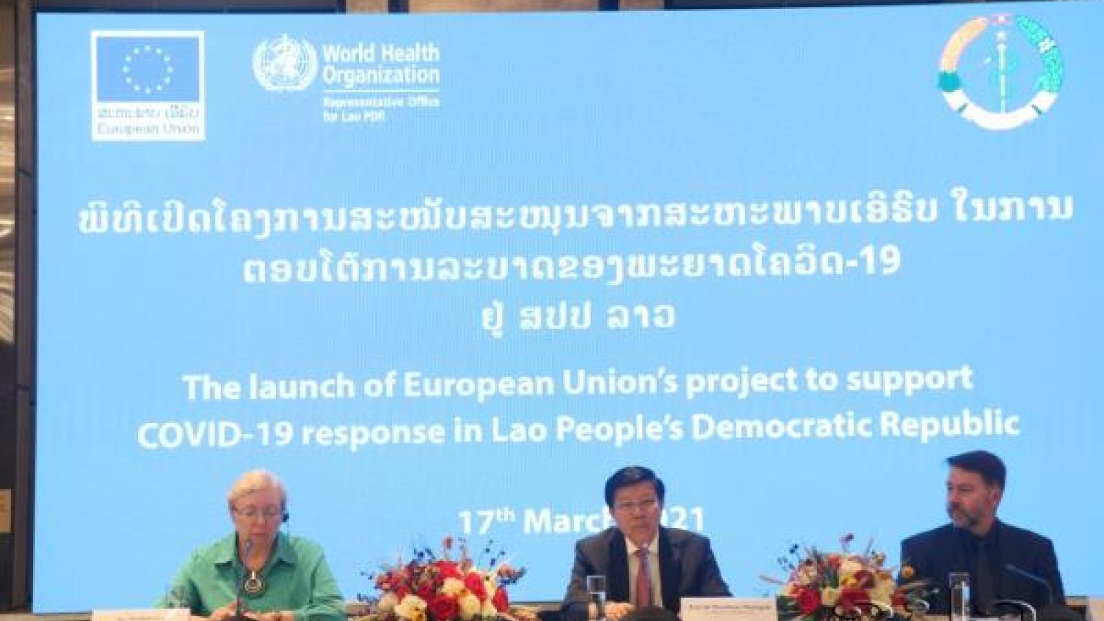 EU viện trợ Lào 2,8 triệu Euro đối phó Covid-19