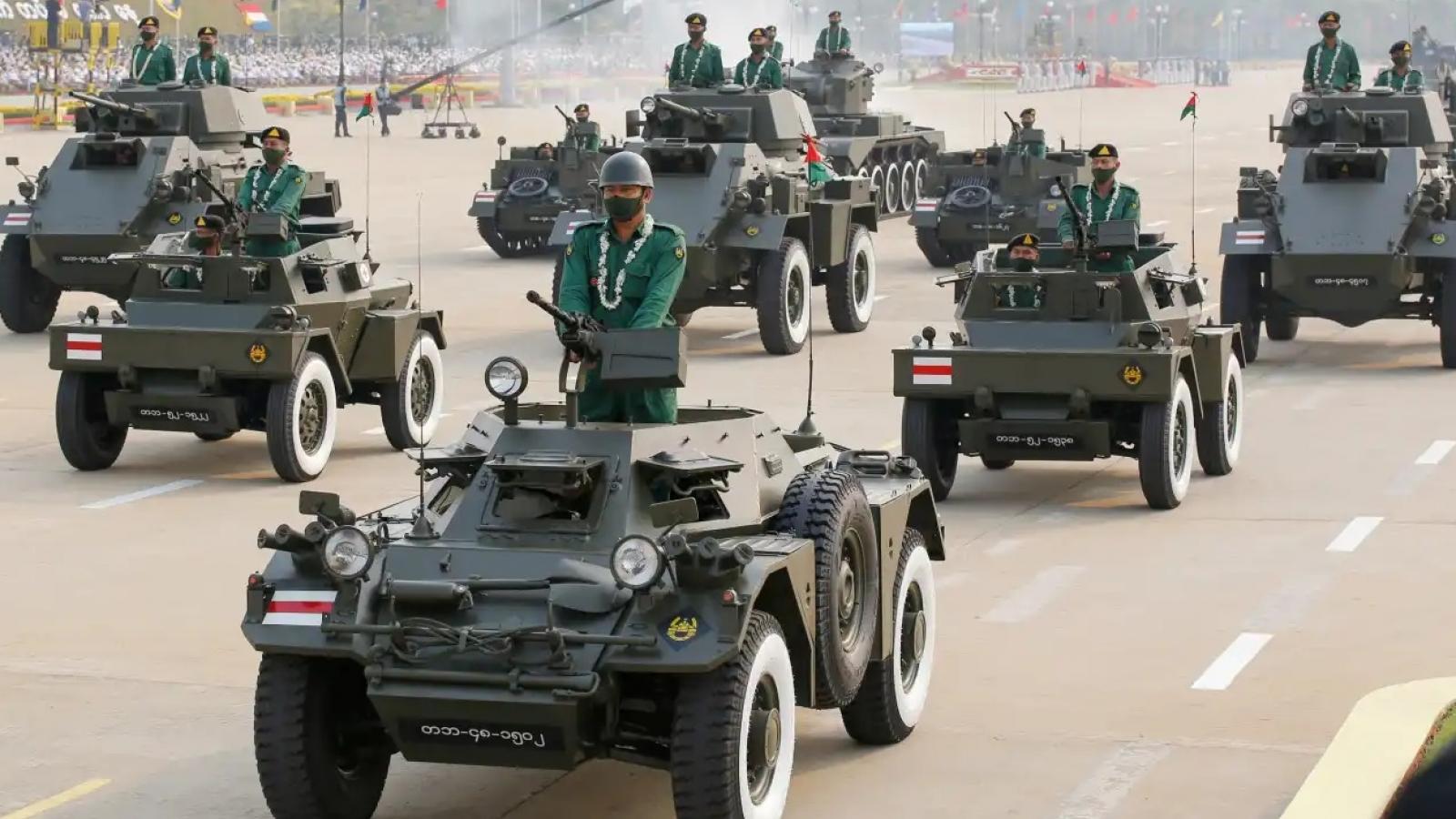 Thương vong lớn khi Myanmardiễu binh và gửi đi thông điệp của Thống tướng