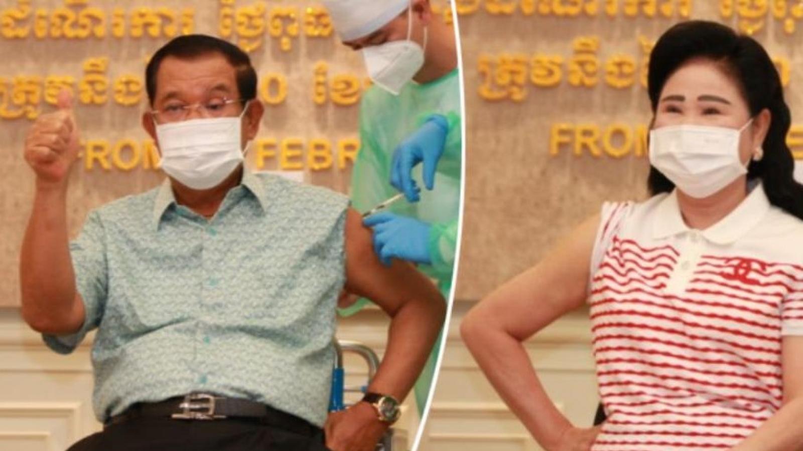 Thủ tướng Hun Sen tiêmvaccine ngừa Covid-19, dịch bệnh ở Campuchia tiếp tục phức tạp