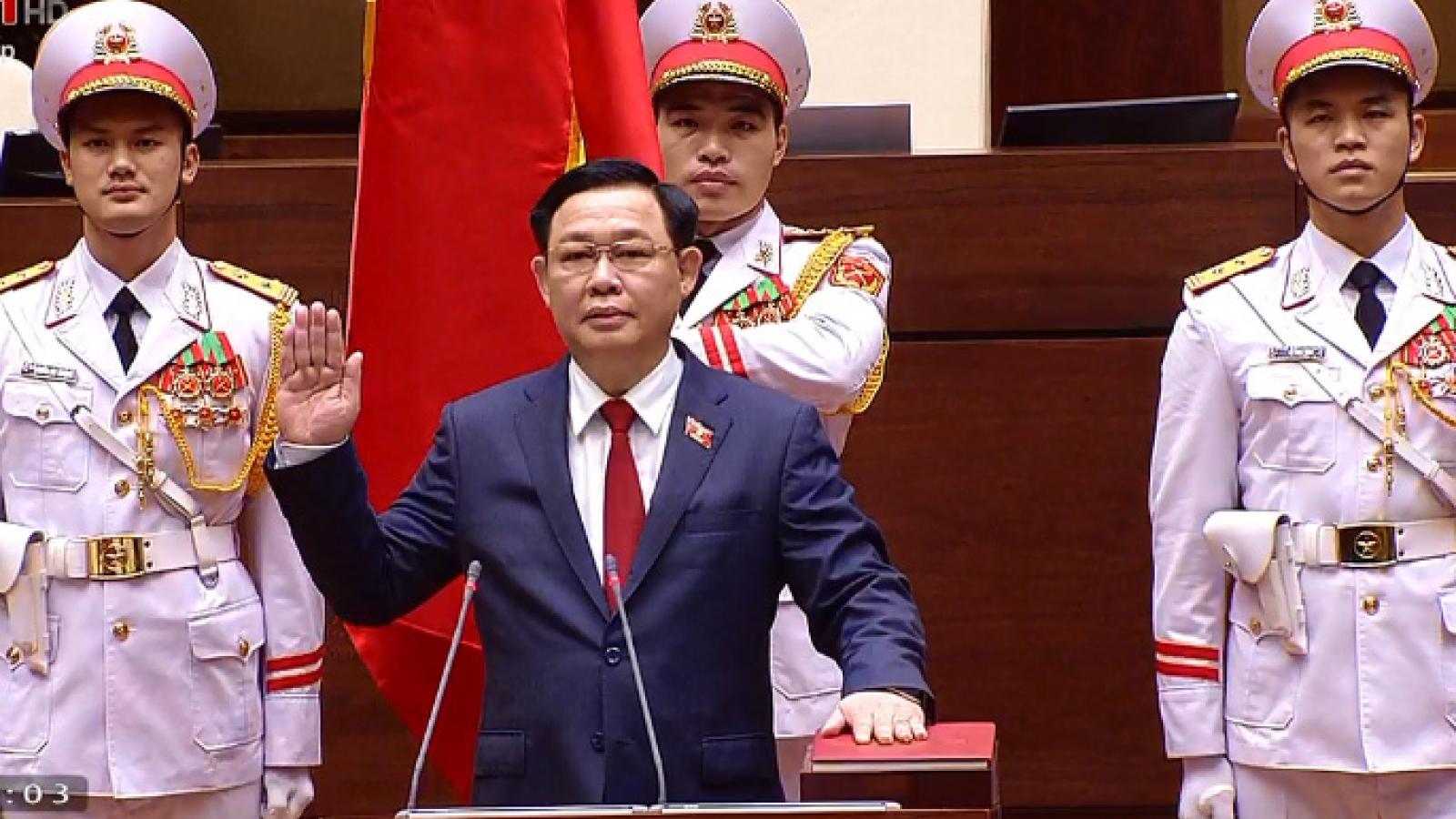 Lễ tuyên thệ nhậm chức của Chủ tịch Quốc hội Vương Đình Huệ